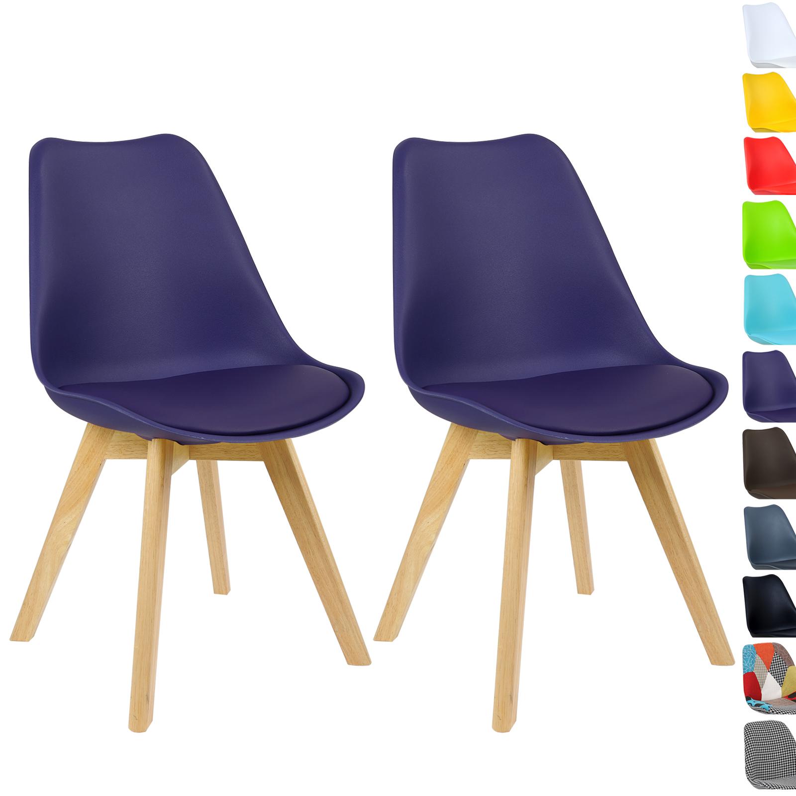 Lot de 2 chaise de salle manger en bois en tissu - Tissus pour recouvrir chaise de cuisine ...