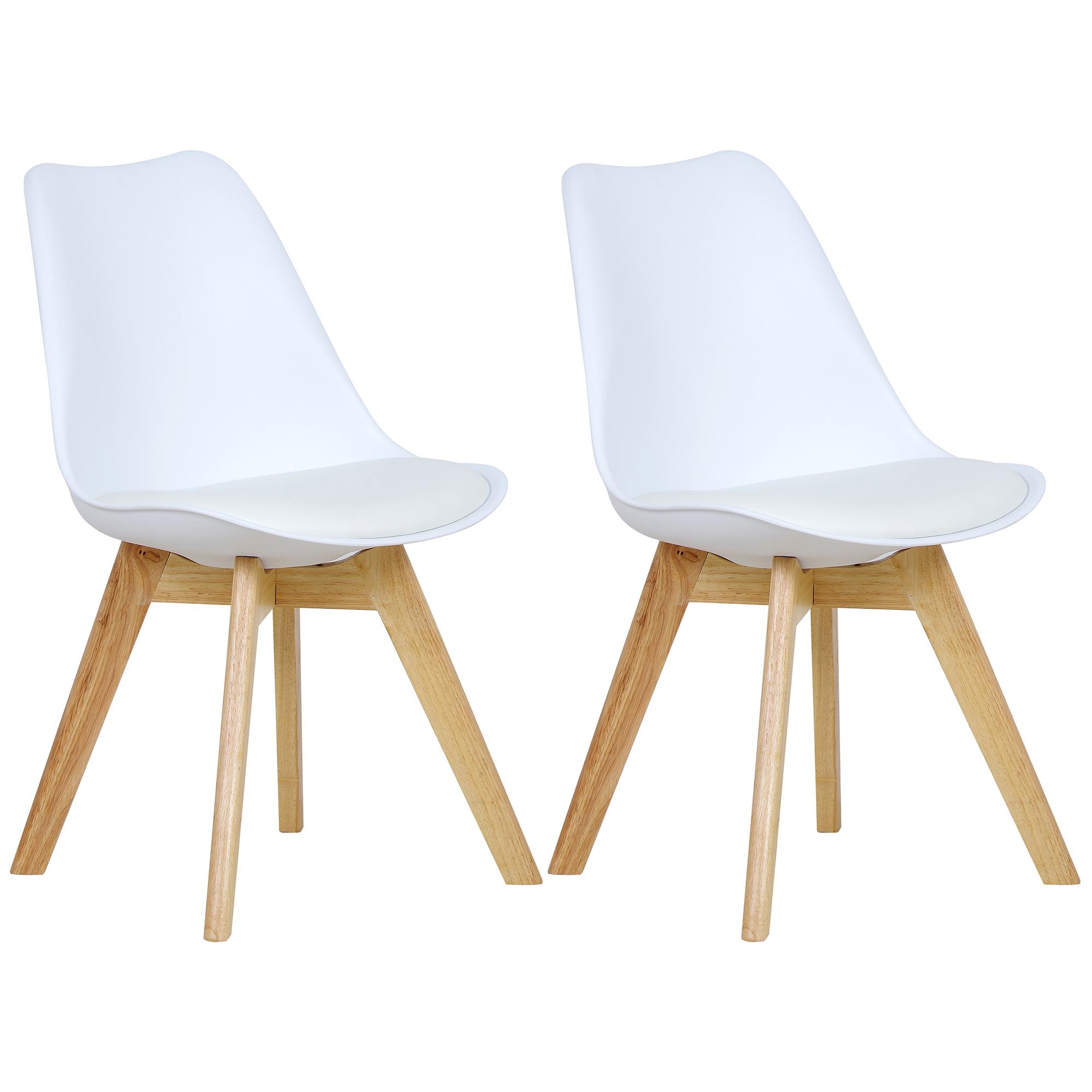 2er set esszimmerst hle esszimmerstuhl design st hle k chenstuhl wei bh29ws 2 4250367037591 ebay. Black Bedroom Furniture Sets. Home Design Ideas