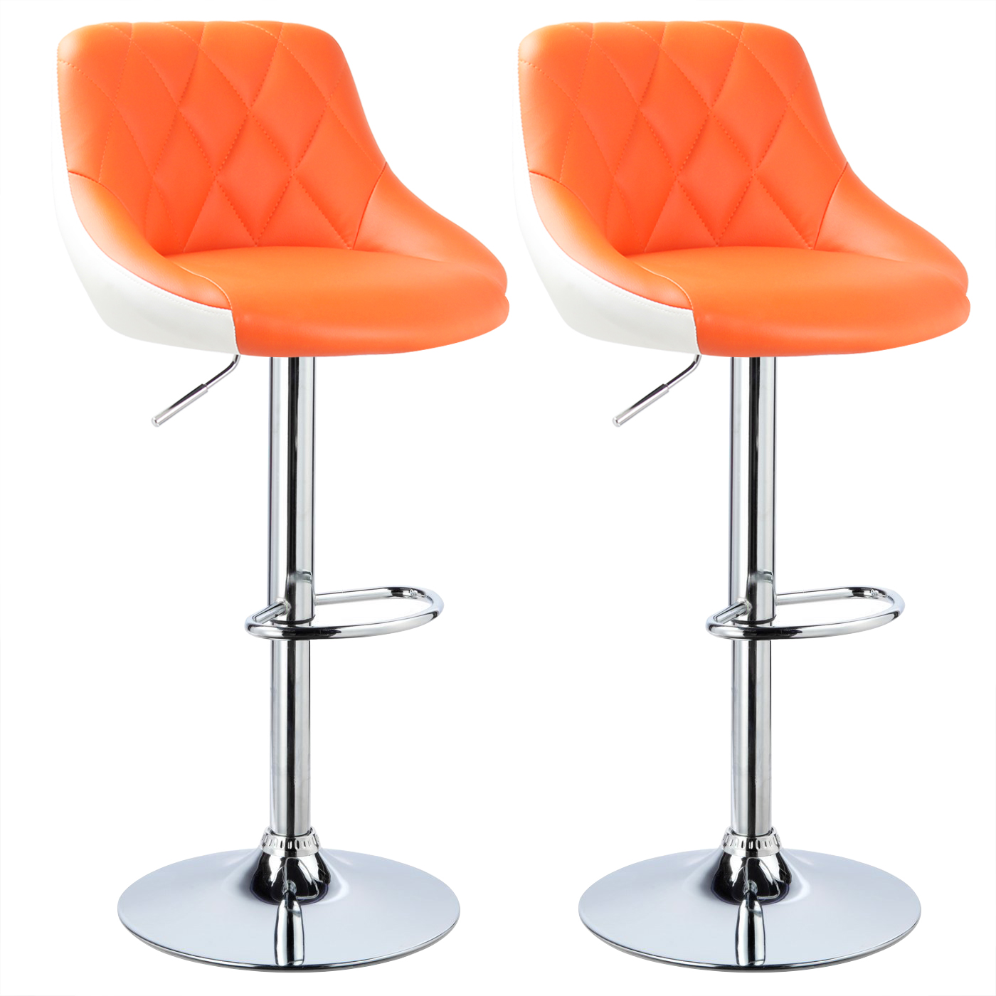 tabouret de bar pivotant 360 lot de 2 en pu 1 fauteuil chaise longue f050 ebay. Black Bedroom Furniture Sets. Home Design Ideas