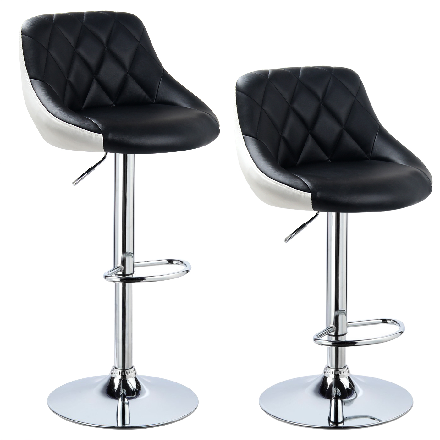 Tabourets de bar cuisine lot de 2 pivotant 360 chaise - Chaise bar reglable ...