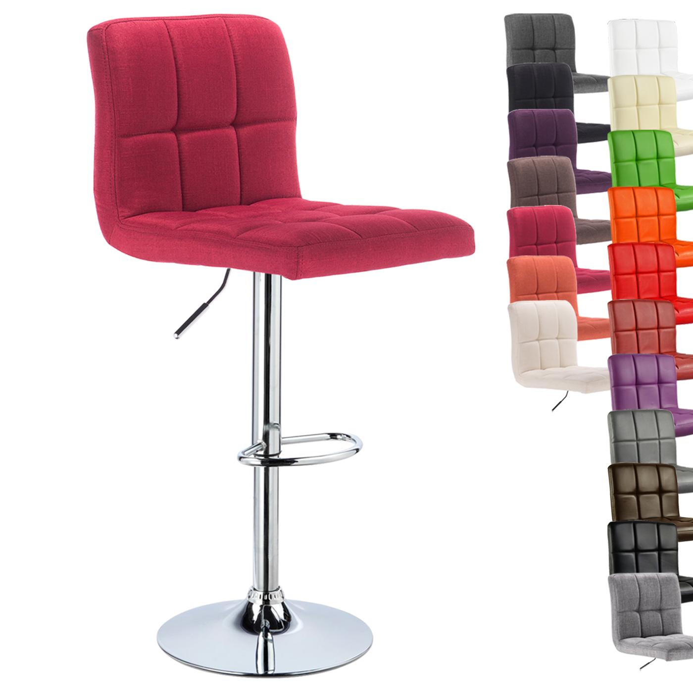 1 tabouret de bar r glable 360 rotation cuisine chaise en similicuir lin f070 ebay. Black Bedroom Furniture Sets. Home Design Ideas