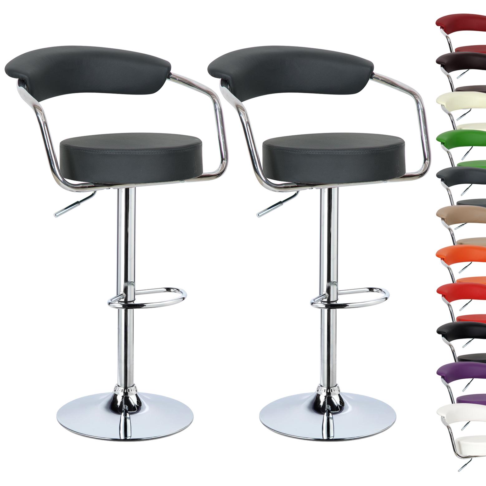 1 2 Tabouret de bar en cuir synthétique chaise cuisine en