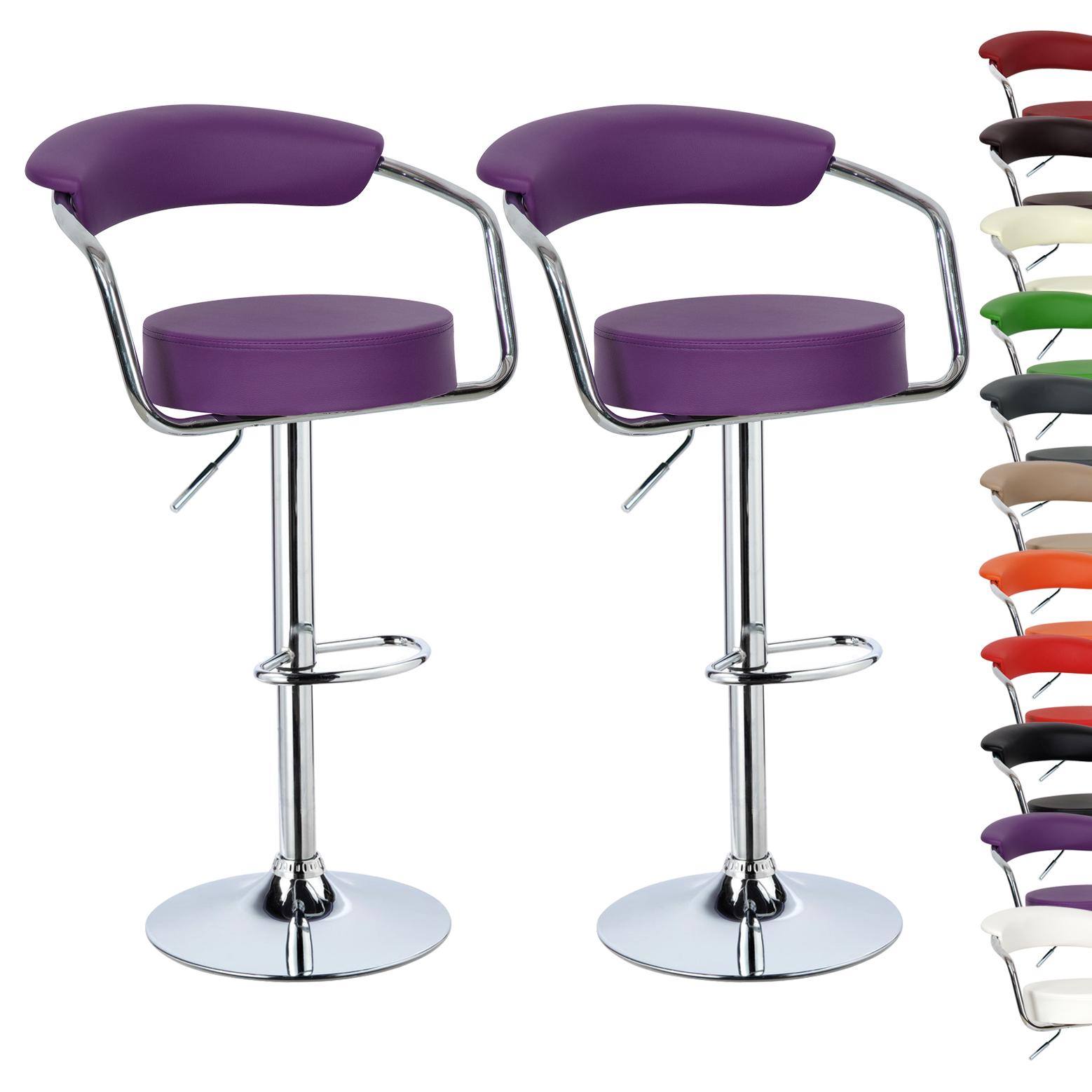 2 X Bar Stools Kitchen Breakfast Swivel Stool Chair