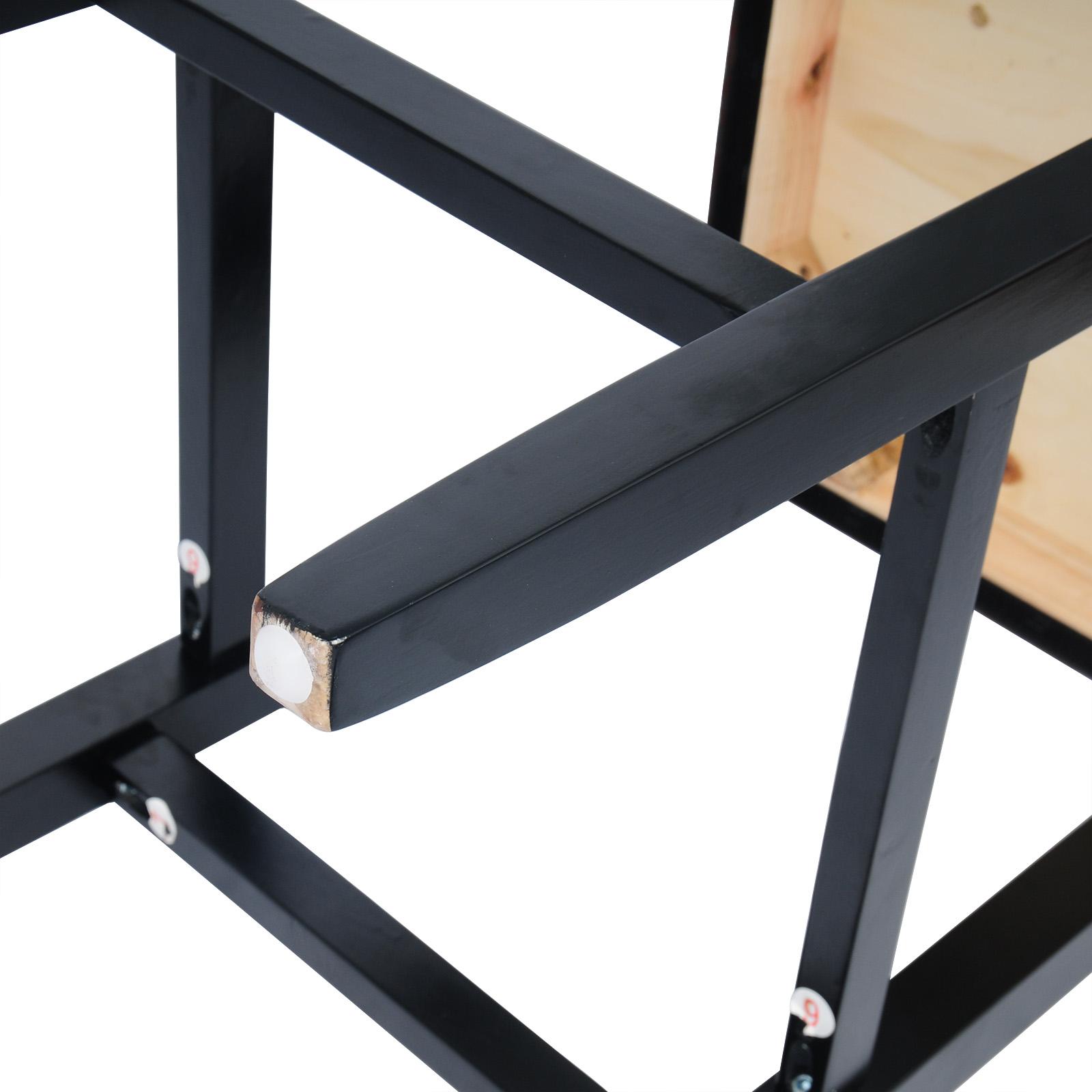 Barhocker Bistrohocker mit Rückenlehne Antiklederoptik Holz Kunstleder #686-24