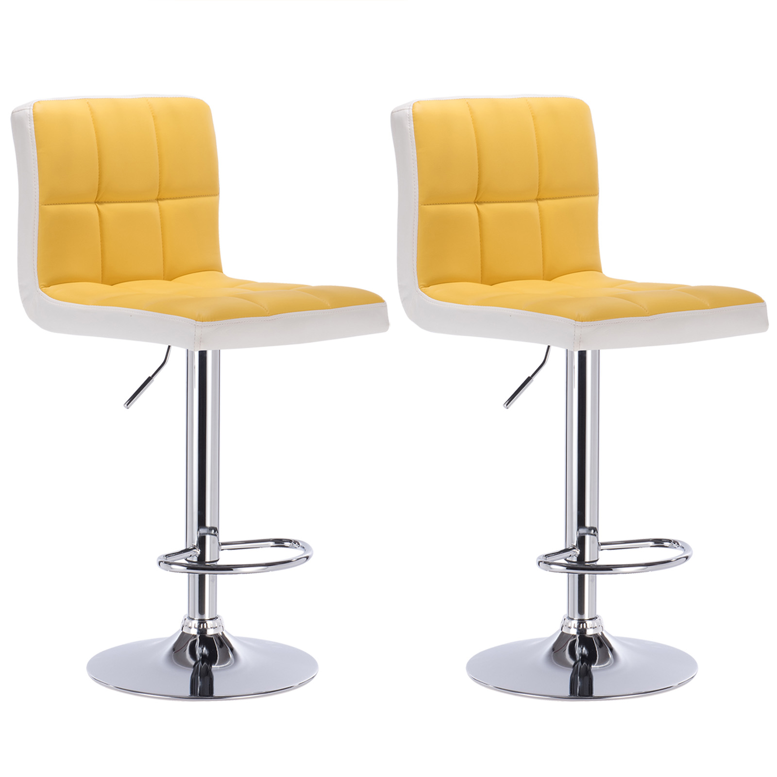Bar Stools Swivel Kitchen Breakfast Bar Stool Set Of 2 Chairs Adjustable U090 Ebay