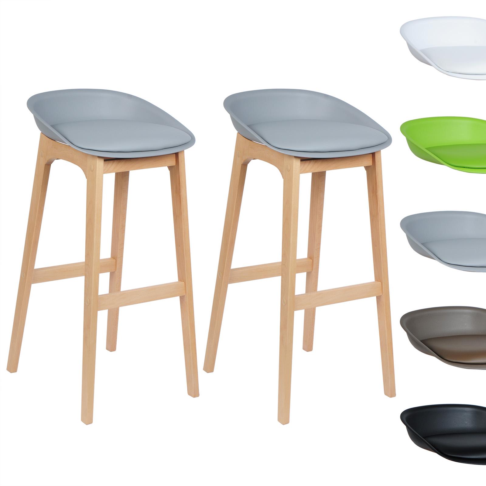tabouret de bar lot de 2 en cuir artificiel chaise design. Black Bedroom Furniture Sets. Home Design Ideas