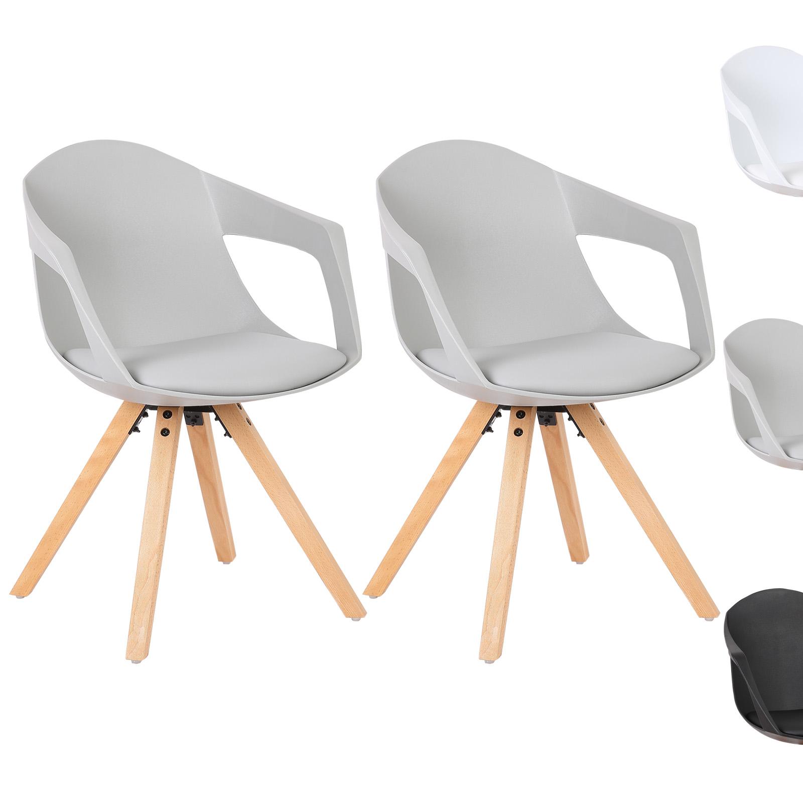 Chaise salle manger lot de 2 cuir simil chaise de for Chaise cuisine en cuir