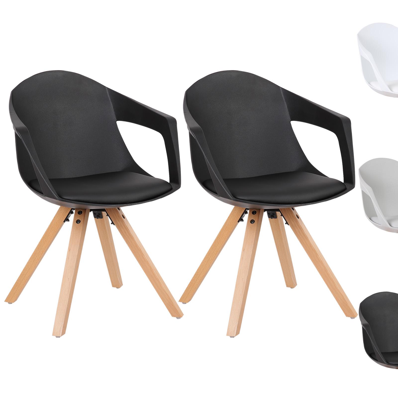 Chaise-salle-a-manger-lot-de-2-cuir-simil-Chaise-de-cuisine-design-en-bois-f097