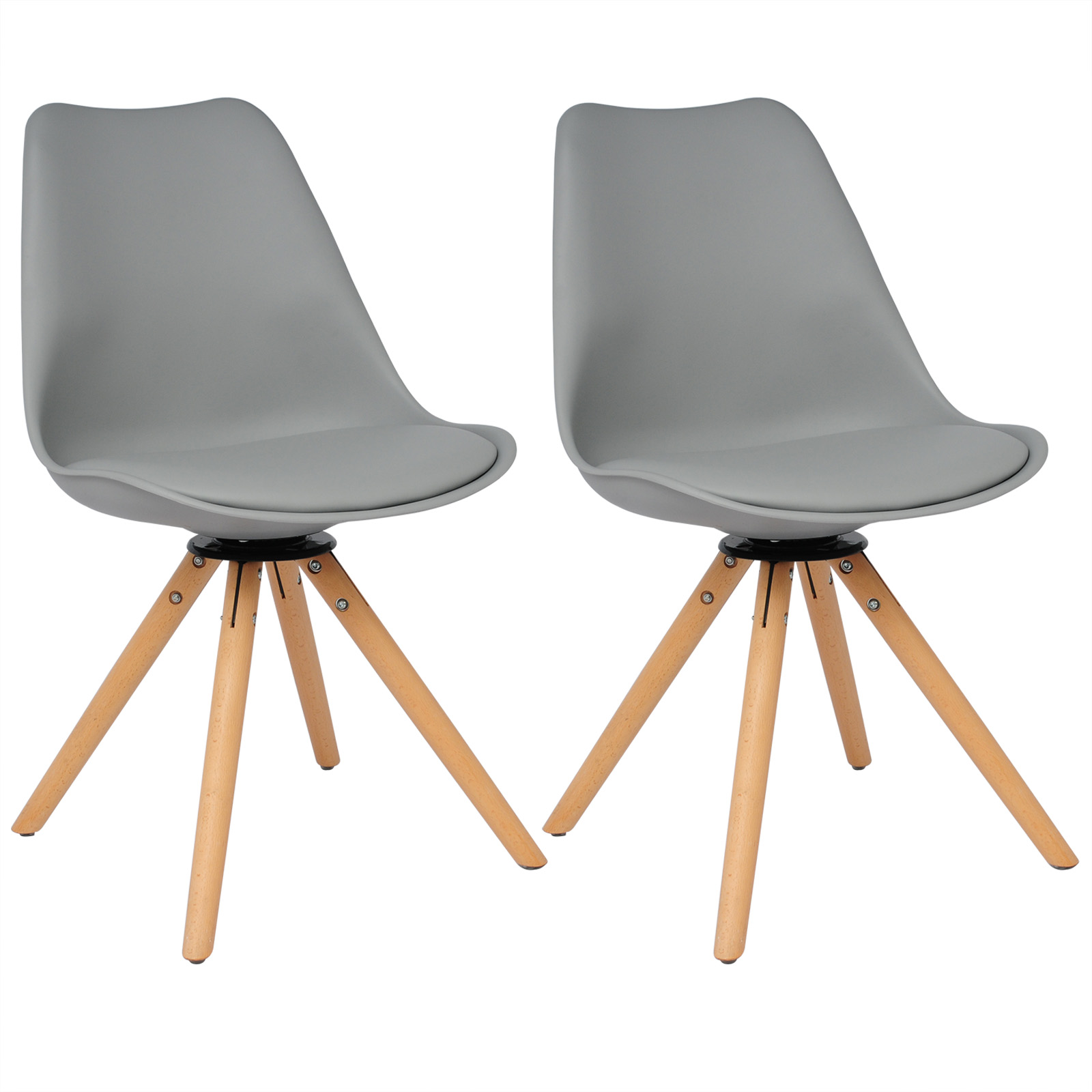 Chaise salle à manger lot de 2 360° rotatif Chaise de cuisine en ...