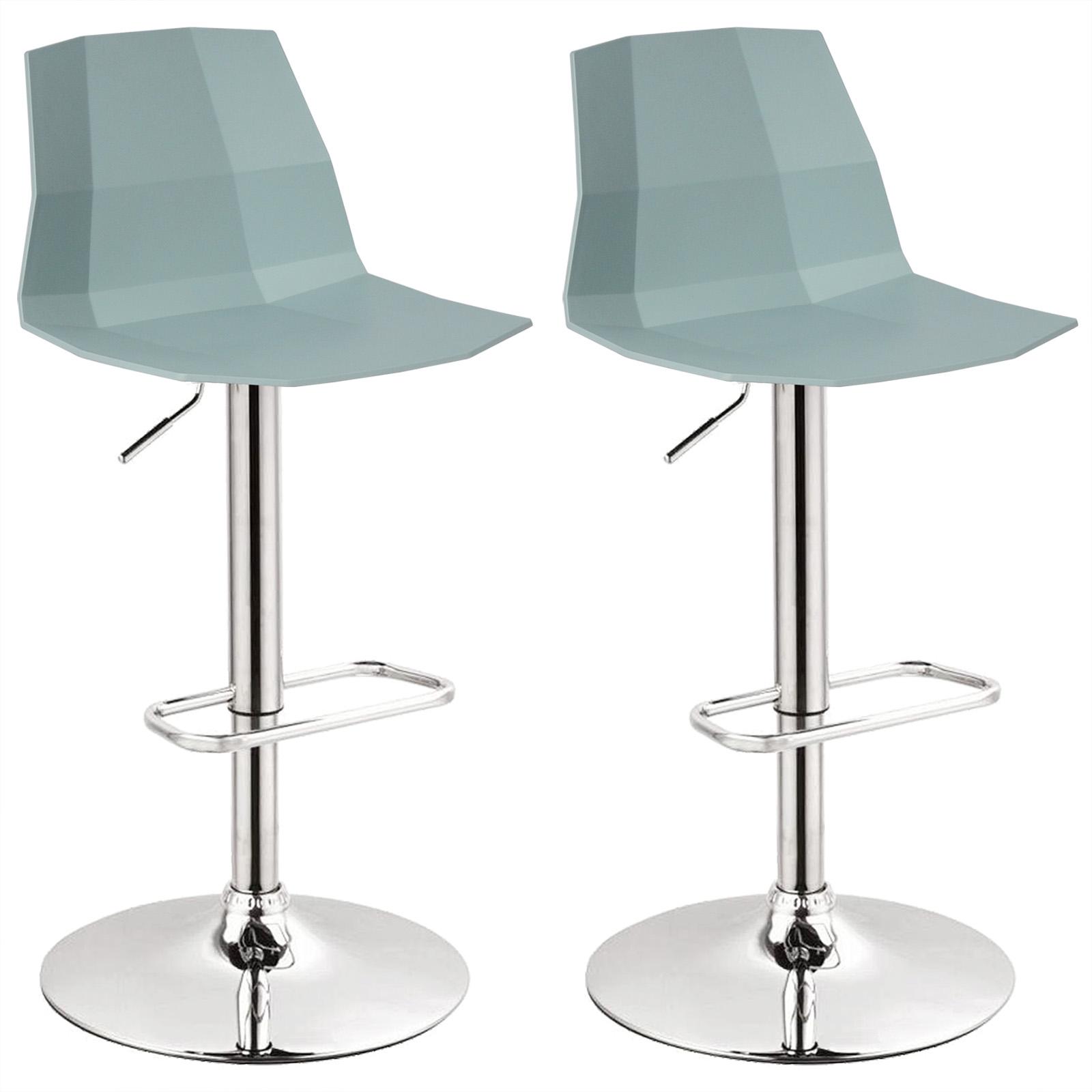 tabouret de bar tournant lot de 2 r glable en hauteur avec plastique si ge f109 ebay. Black Bedroom Furniture Sets. Home Design Ideas