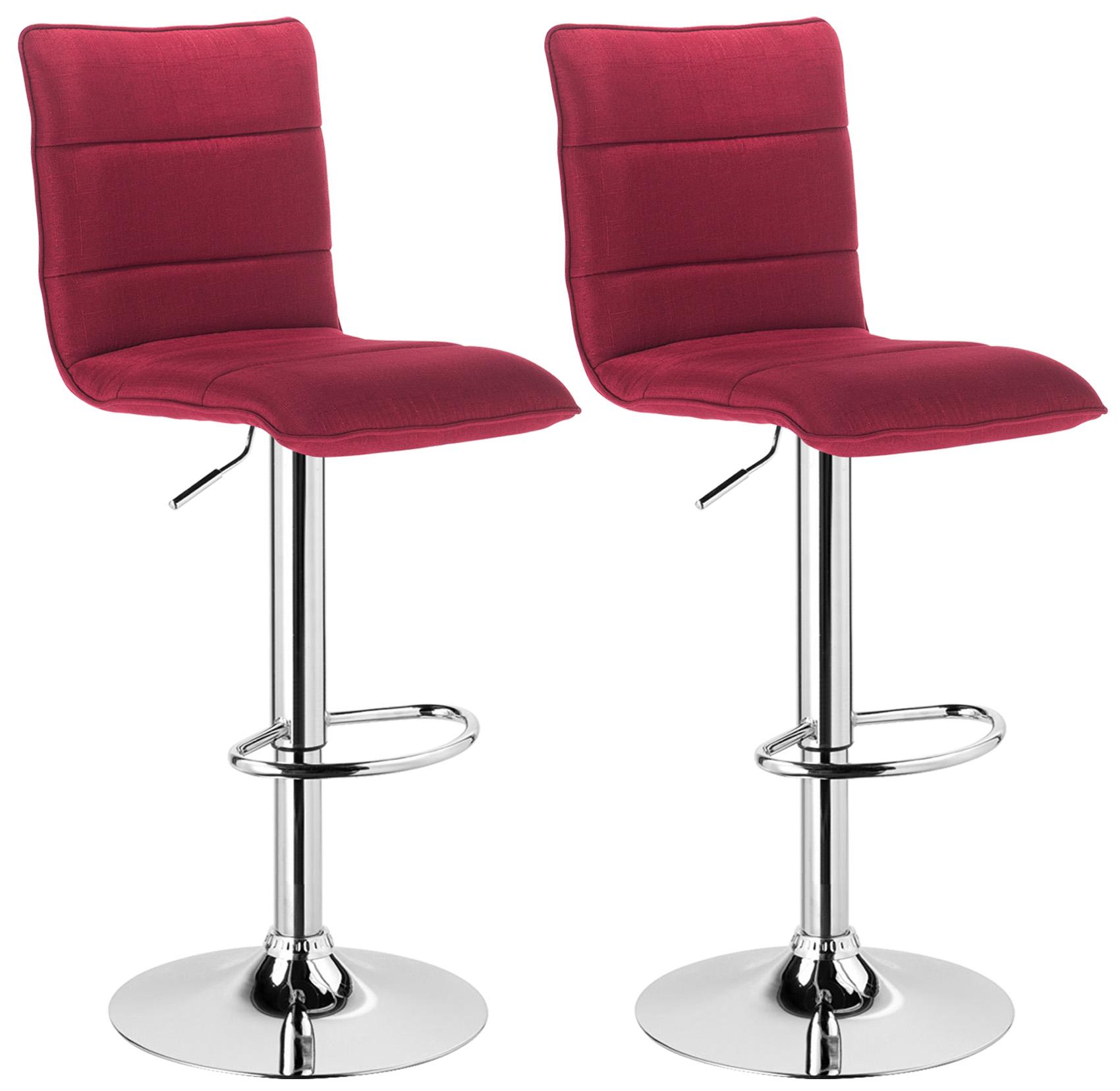 Lot de 2 tabouret de bar avec poign e en pu tissu chaise - Tissus pour recouvrir chaise de cuisine ...