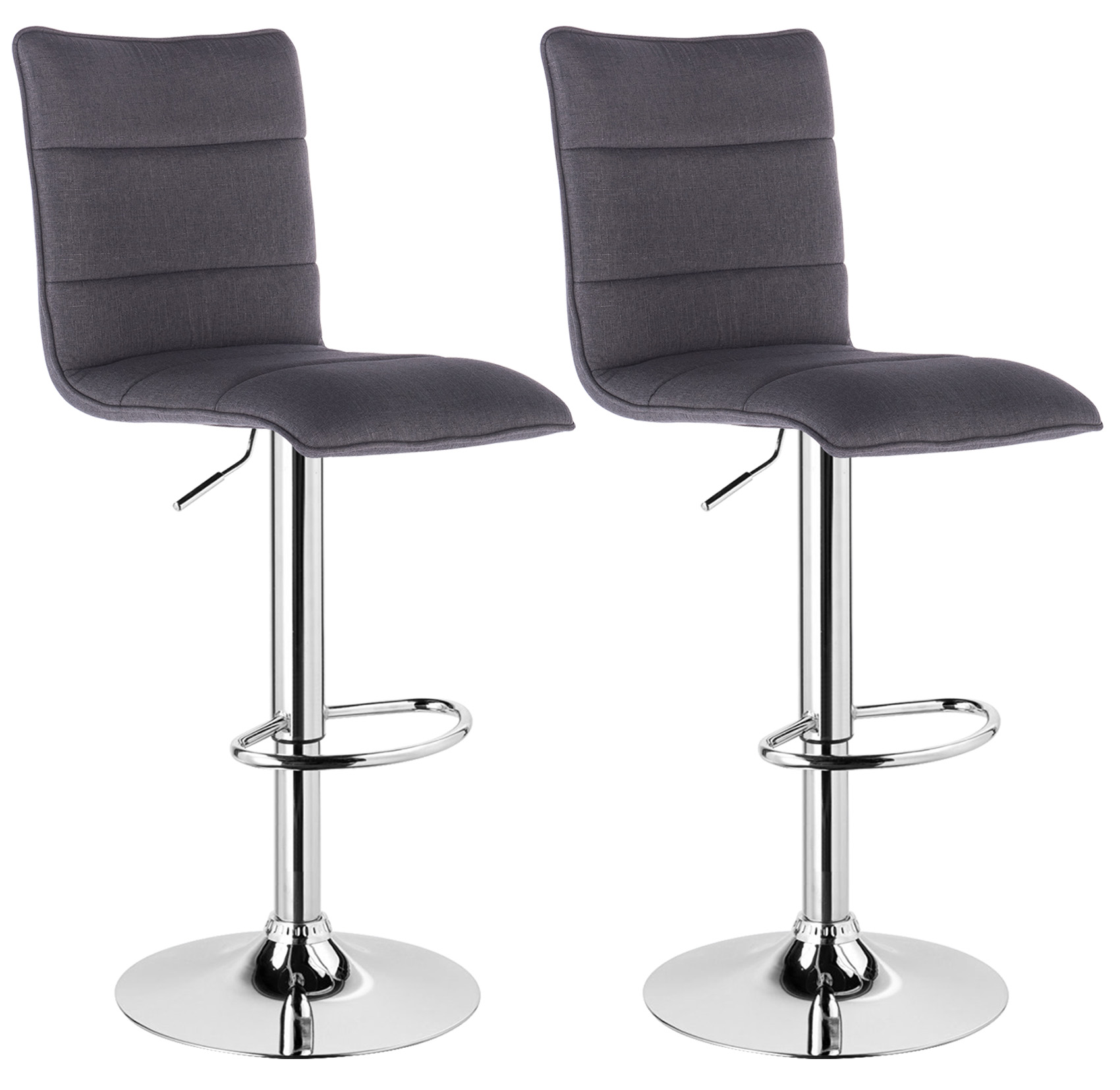 bar stools set of 2 faux leather kitchen breakfast stool chair chrome u008 ebay. Black Bedroom Furniture Sets. Home Design Ideas