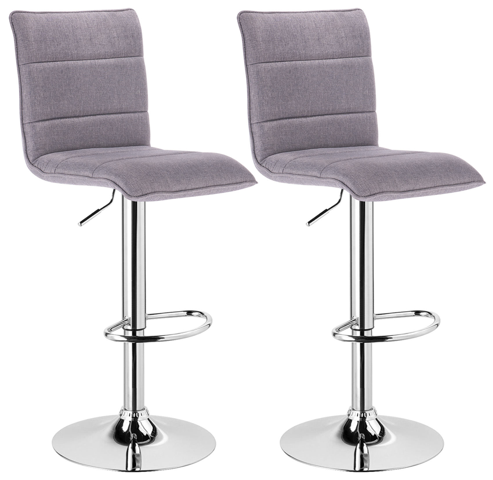Bar Stools Set Of 2 Faux Leather Kitchen Breakfast Stool