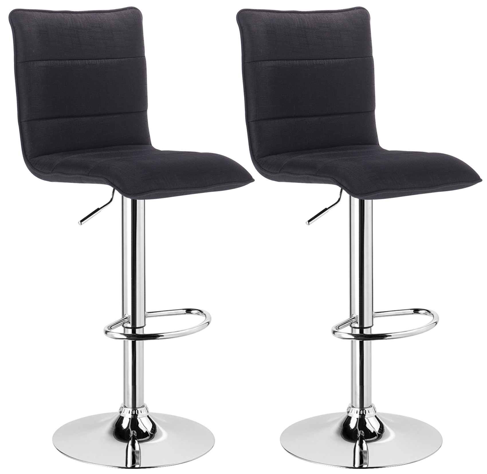 lot de 2 tabouret de bar avec poign e en pu tissu chaise cuisine r glable f008 ebay. Black Bedroom Furniture Sets. Home Design Ideas