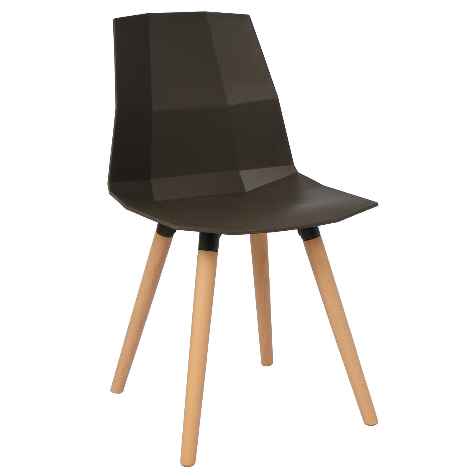 2x esszimmerst hle design stuhl k chenstuhl holz for Design stuhl kunststoff