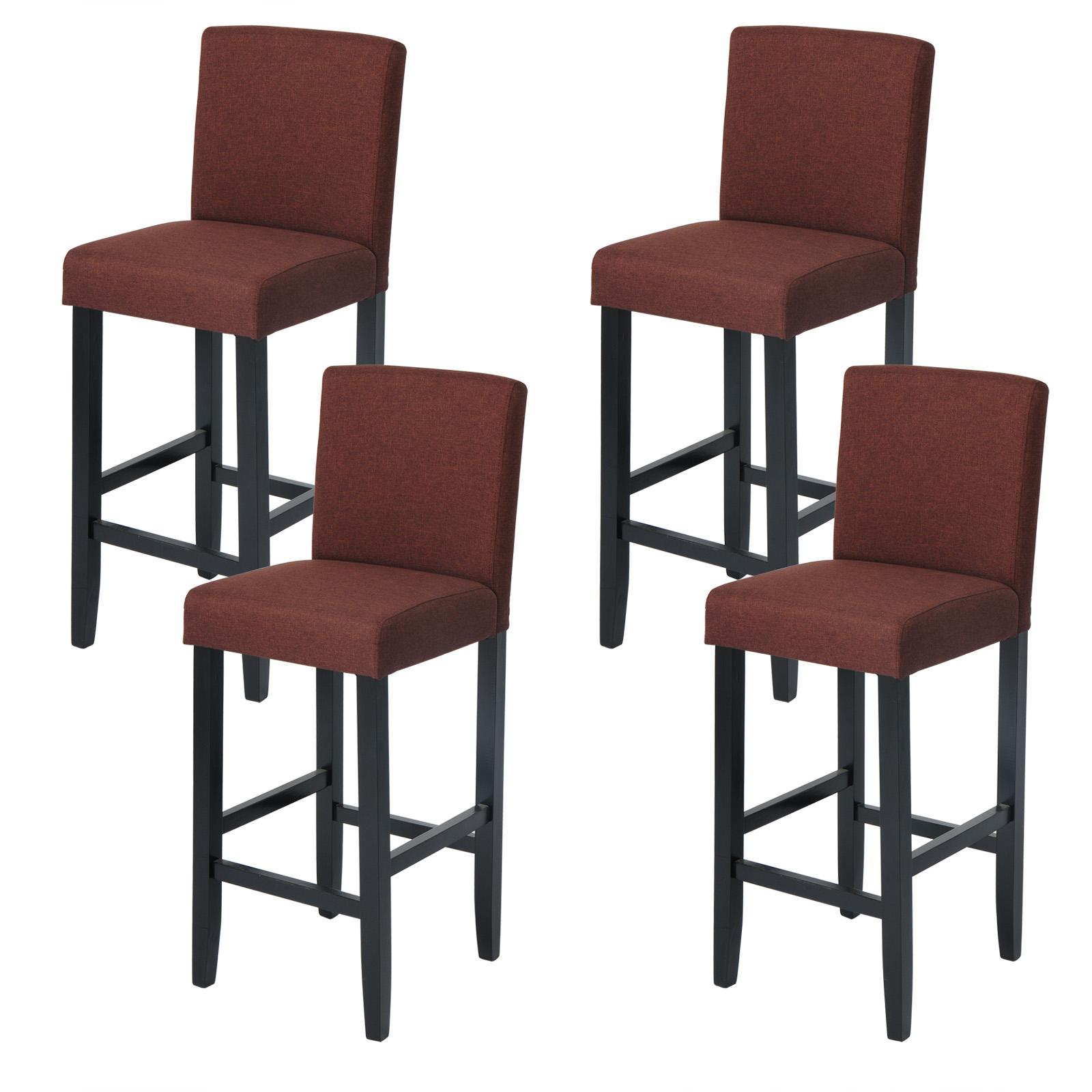 barhocker 4er set bistrohocker k chenhocker stoff bezug. Black Bedroom Furniture Sets. Home Design Ideas