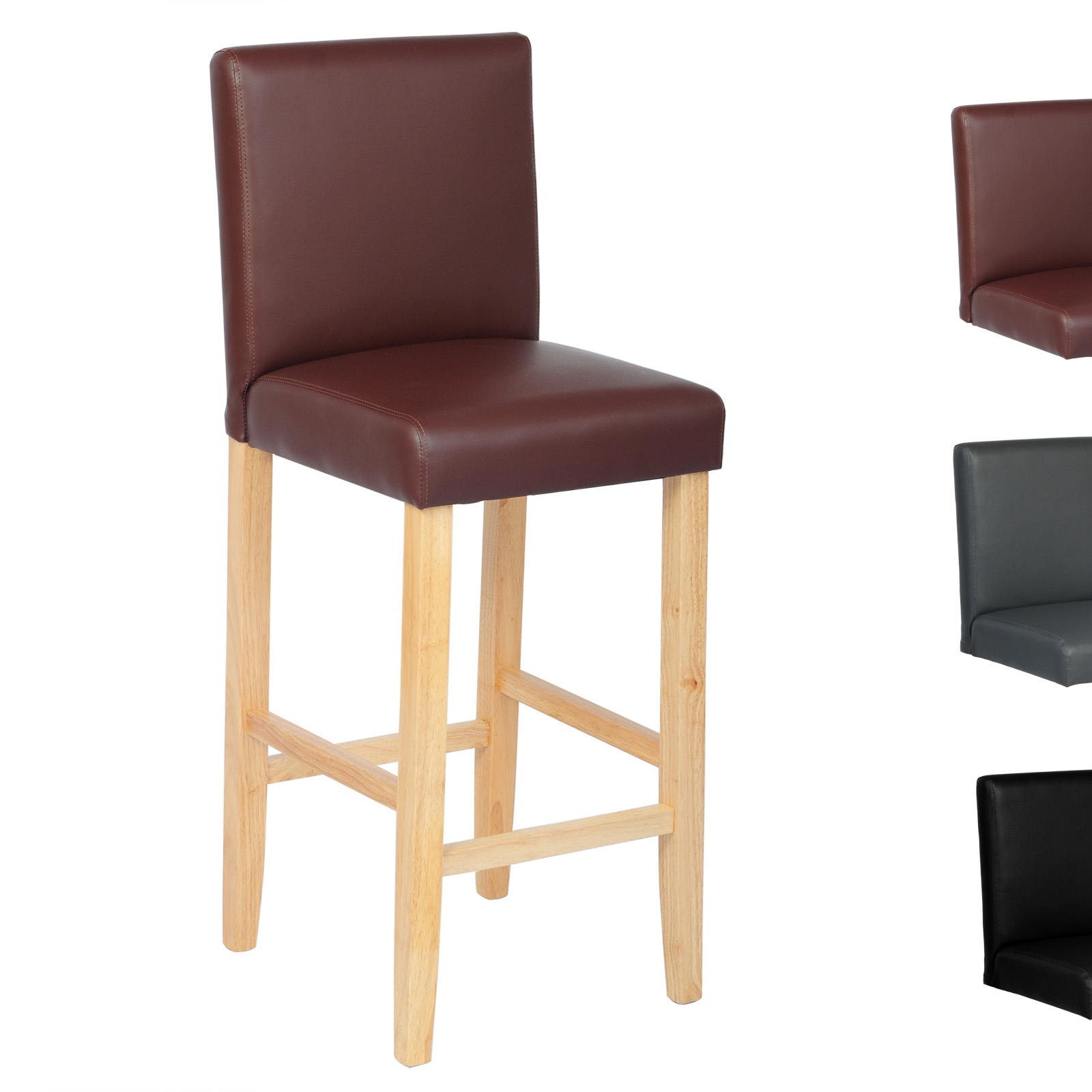 tabouret de bar avec dossier en cuir synth tique lin chaise de bar cuisine f023 ebay. Black Bedroom Furniture Sets. Home Design Ideas