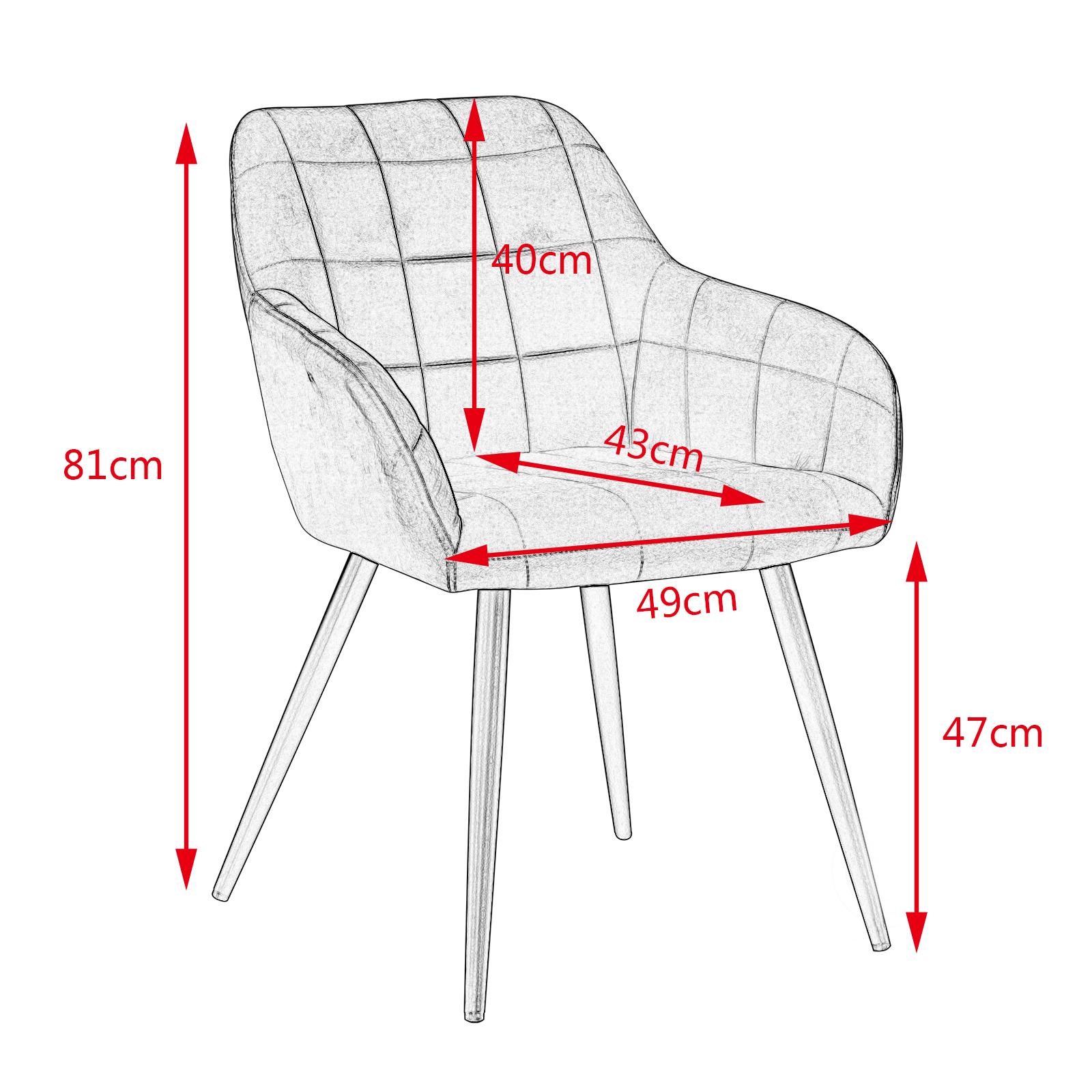 Indexbild 3 - Esszimmerstuhl Küchenstuhl Polsterstuhl Wohnzimmerstuhl Sessel BH93sz-1
