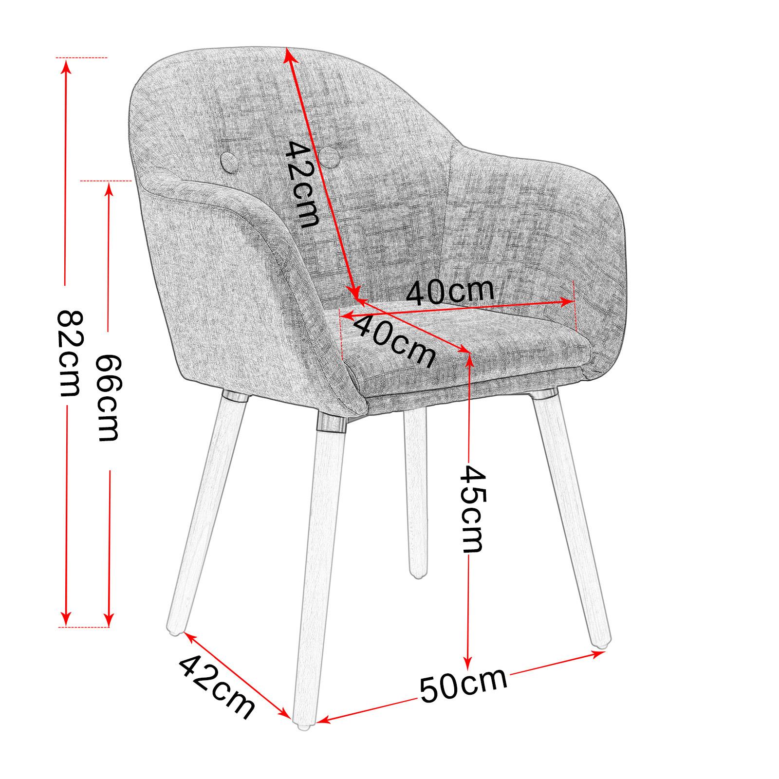 Indexbild 3 - Esszimmerstühle Küchenstuhl Wohnzimmerstuhl Polsterstuhl Design Stuhl BH121rs-1