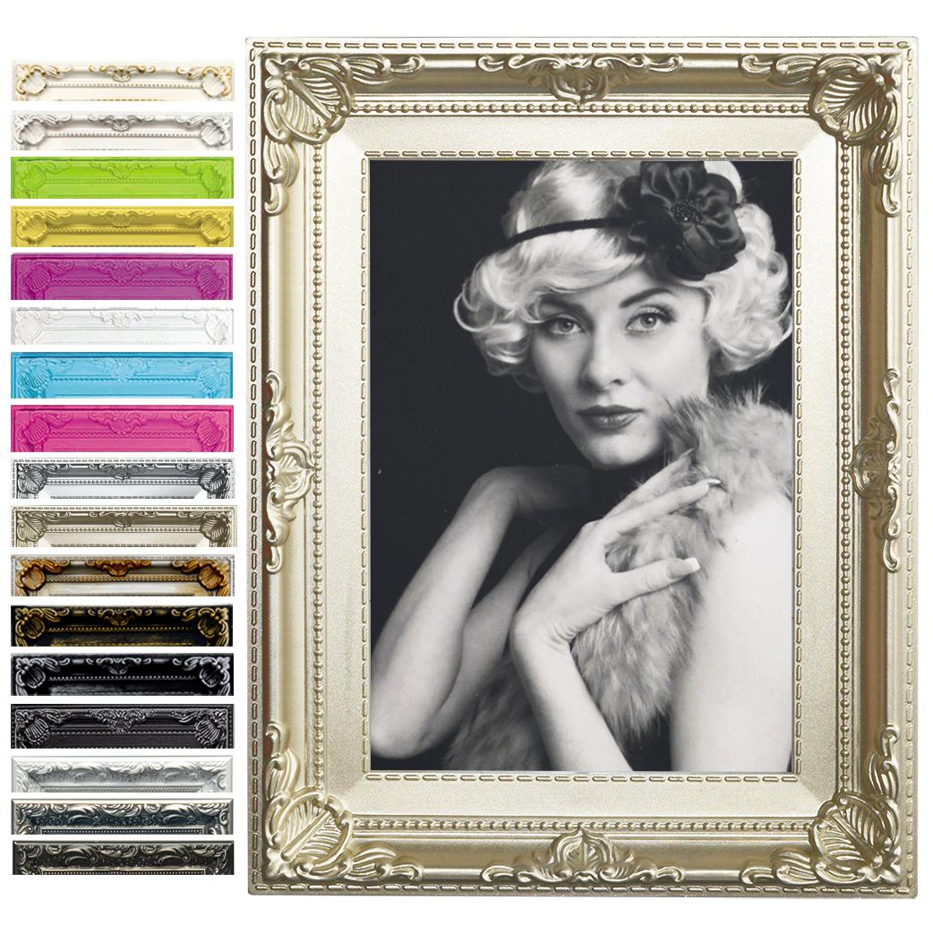 Bilderrahmen Fotogalerie Kunststoff Antik Barock Collage 15 Farben 6 ...