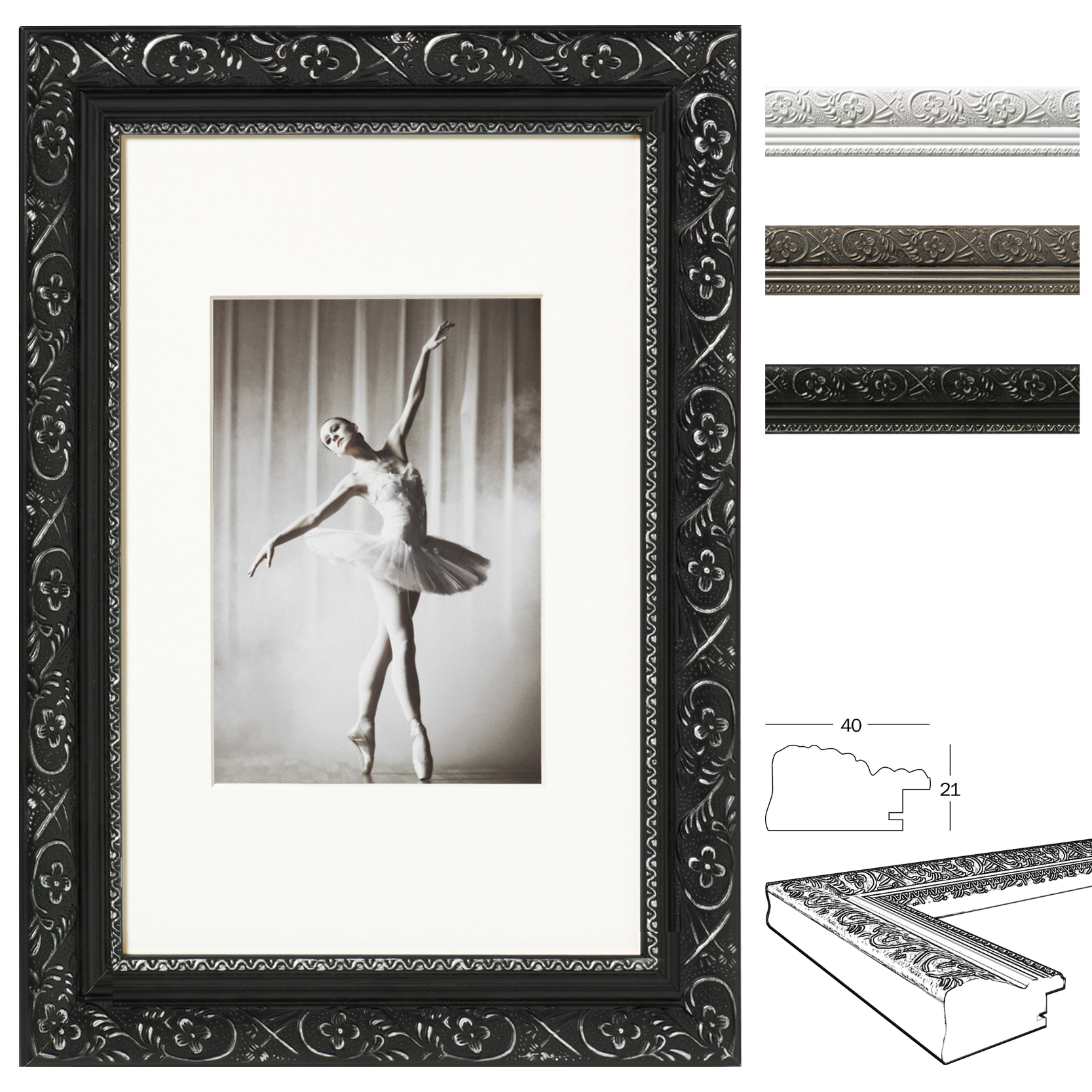 bilderrahmen fotogalerie bildergalerie collage galerie antik barock holz 317 ebay. Black Bedroom Furniture Sets. Home Design Ideas