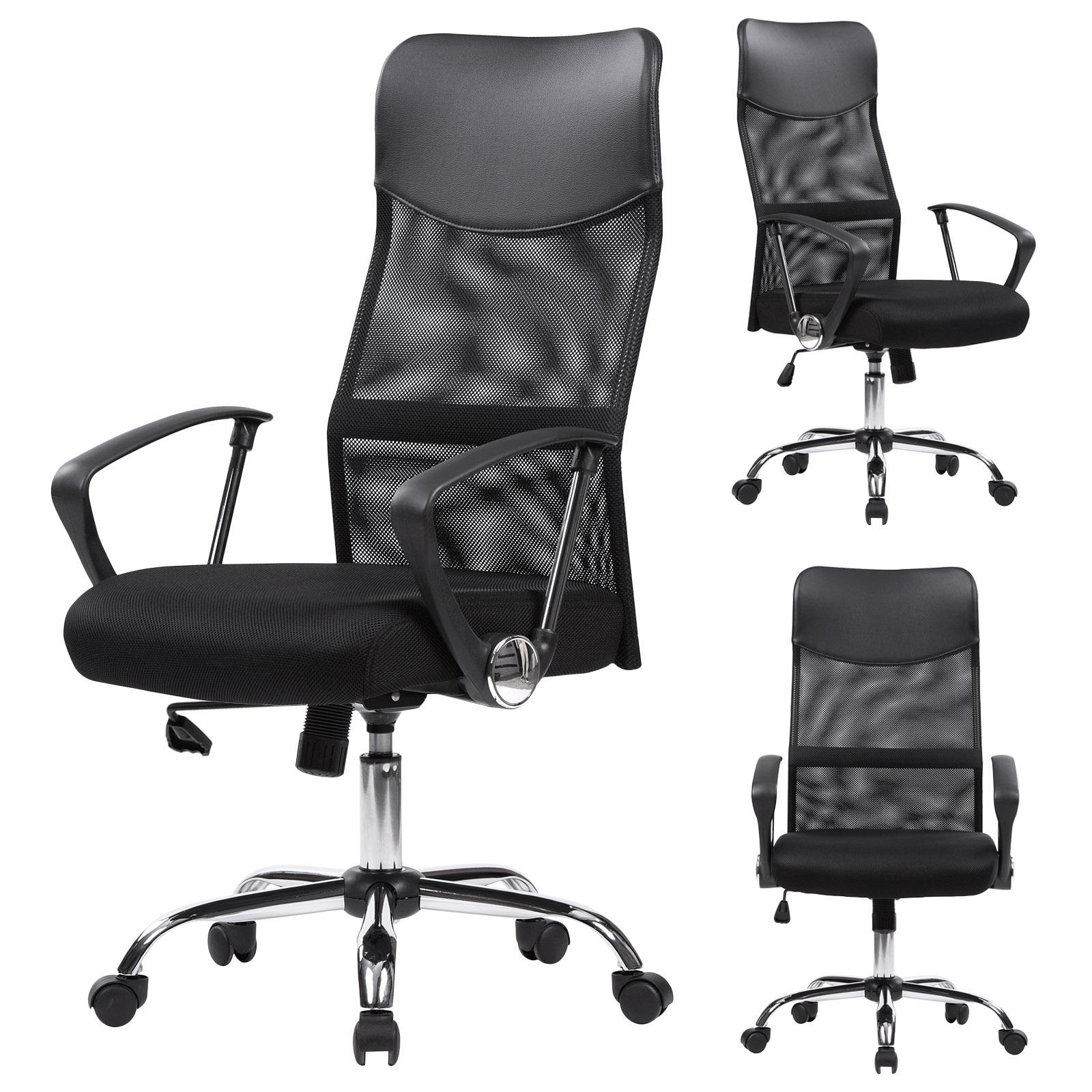 chaise de bureau pivotante en simili cuir linge nylon hauteur r glable f193 ebay. Black Bedroom Furniture Sets. Home Design Ideas