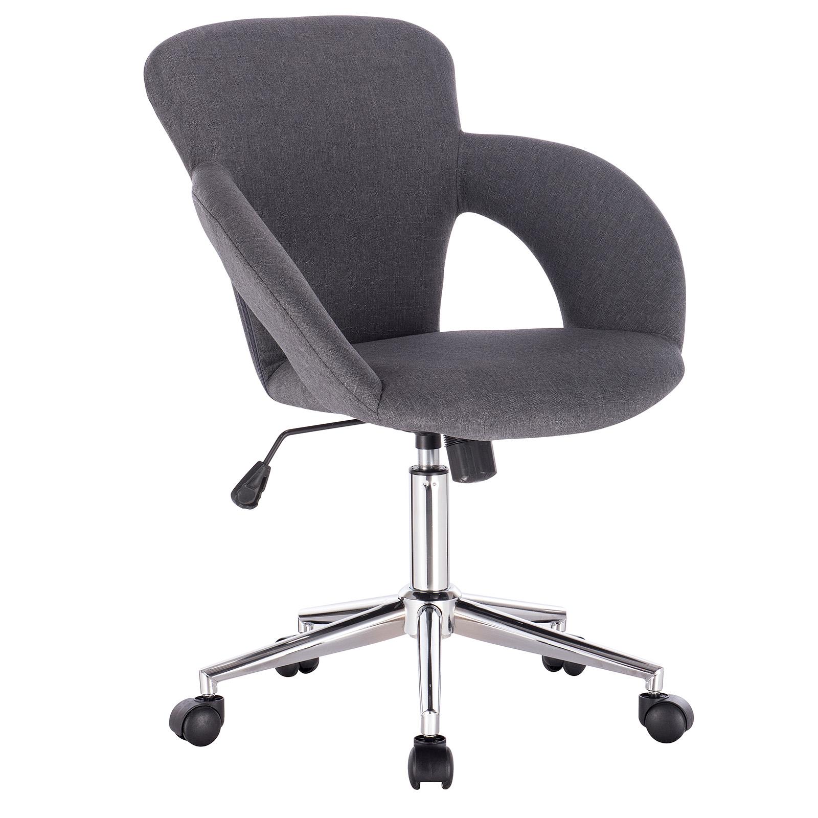 Chaise-de-bureau-pivotant-en-lin-similicuir-Chaise-d-039-ordinateur-reglable-f258