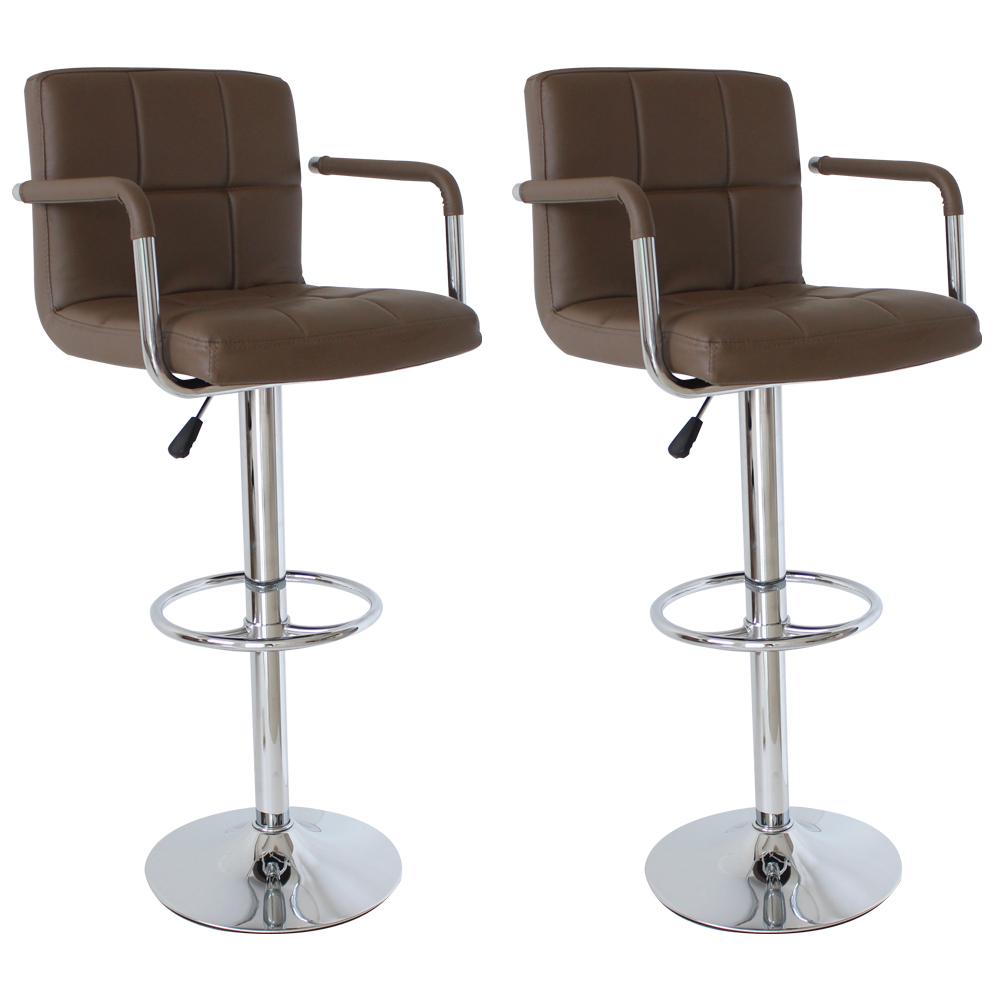 Barstuhl barhocker 2x tresenhocker stuhl hocker kunstleder for Stuhl hocker
