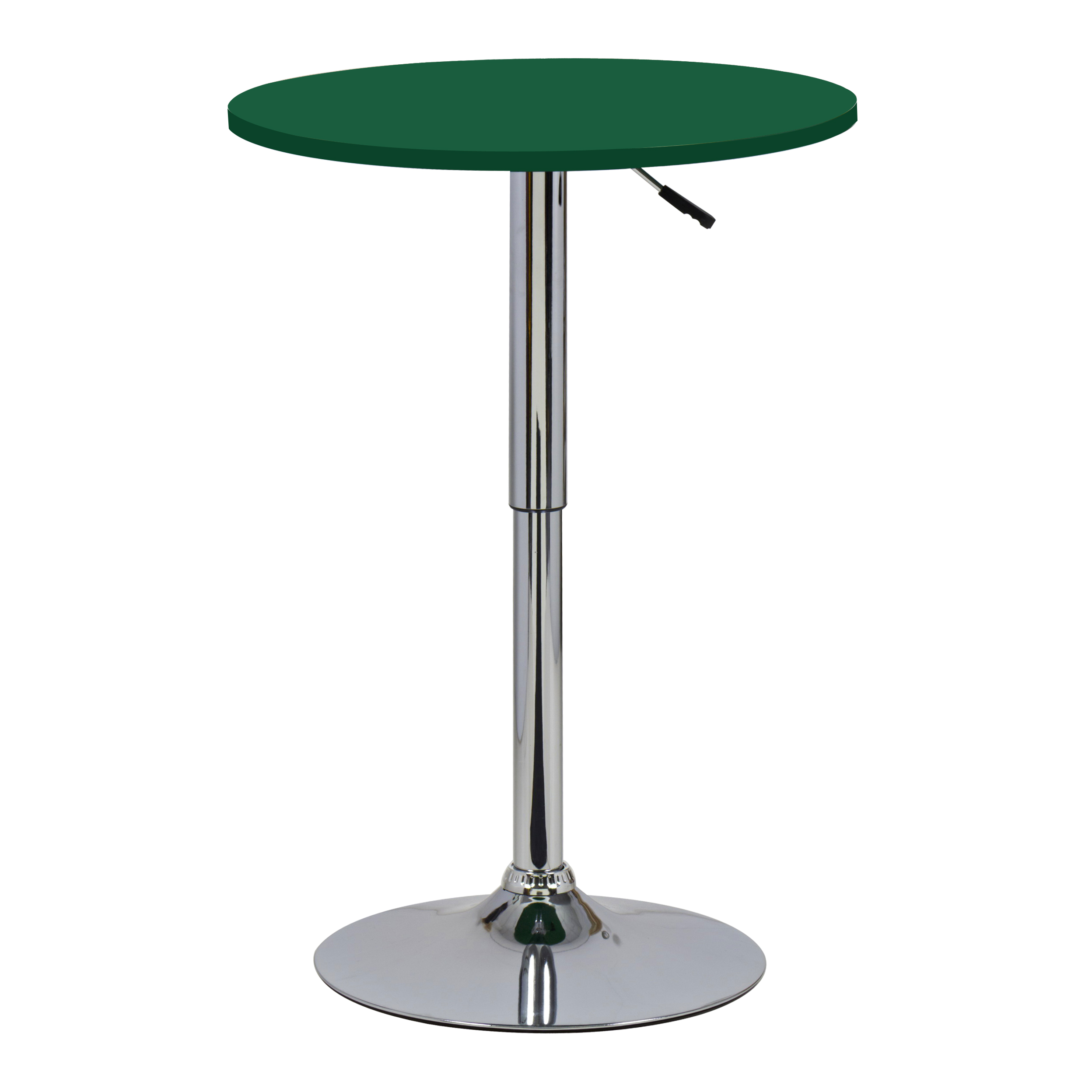 1 table de bar en mdf robuste et acier chrom r glable cuisine table ronde f054 ebay. Black Bedroom Furniture Sets. Home Design Ideas