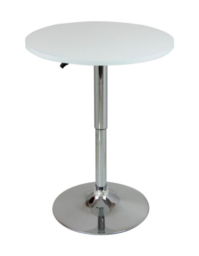bar table bistro table round mdf kitchen dining adjustable swivel pub