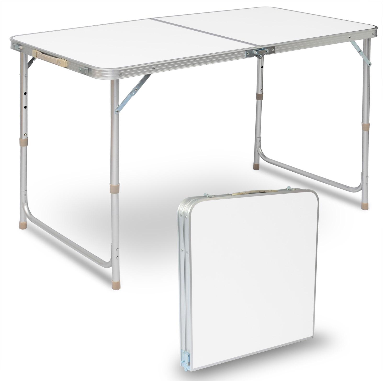 Campingtisch Klapptisch Gartentisch höhenverstellbar MDF Flattisch CPT8121sz