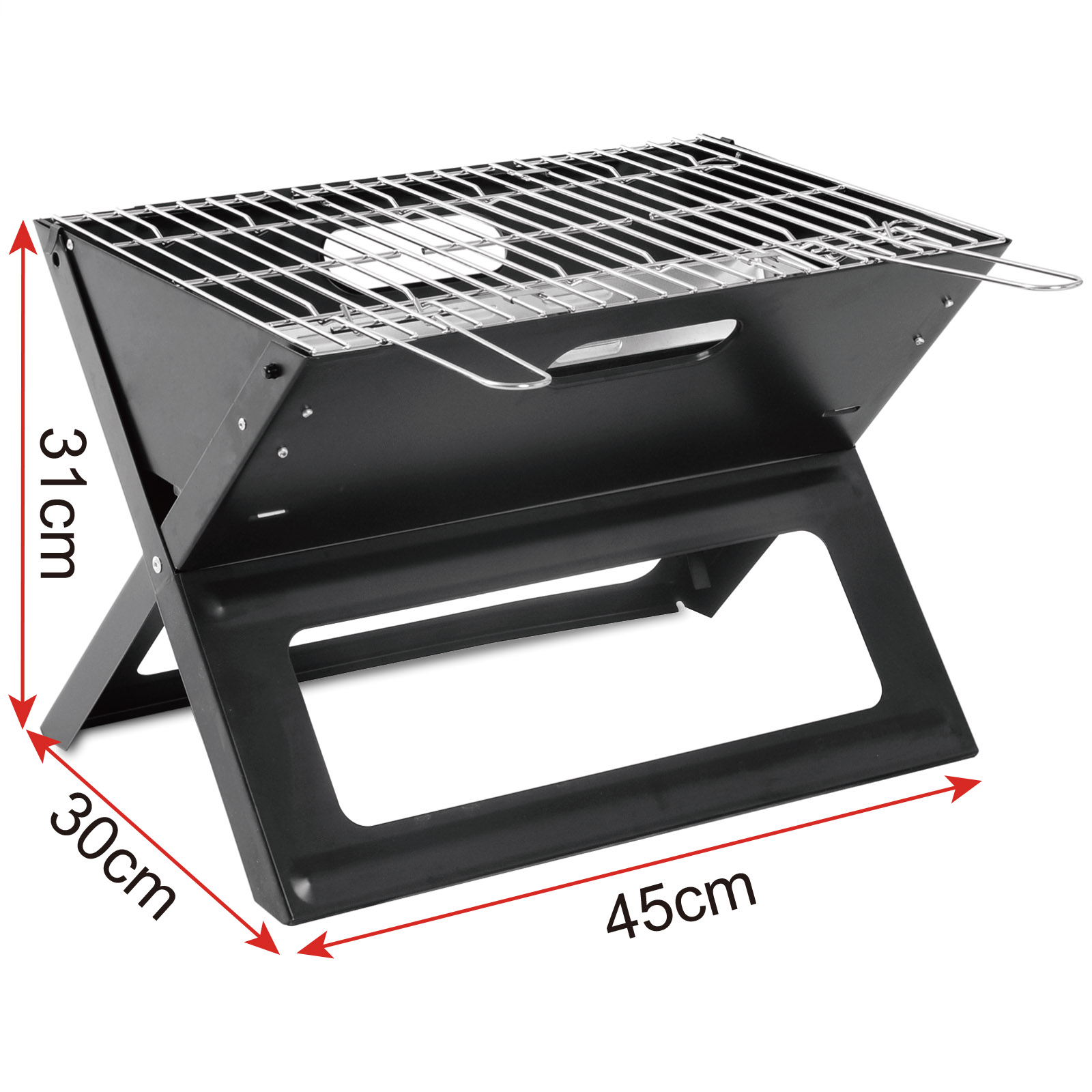 holzkohlegrill mini klappgrill bbq faltbar garten grill stahl schwarz cpz8118sz 4054908123763 ebay. Black Bedroom Furniture Sets. Home Design Ideas