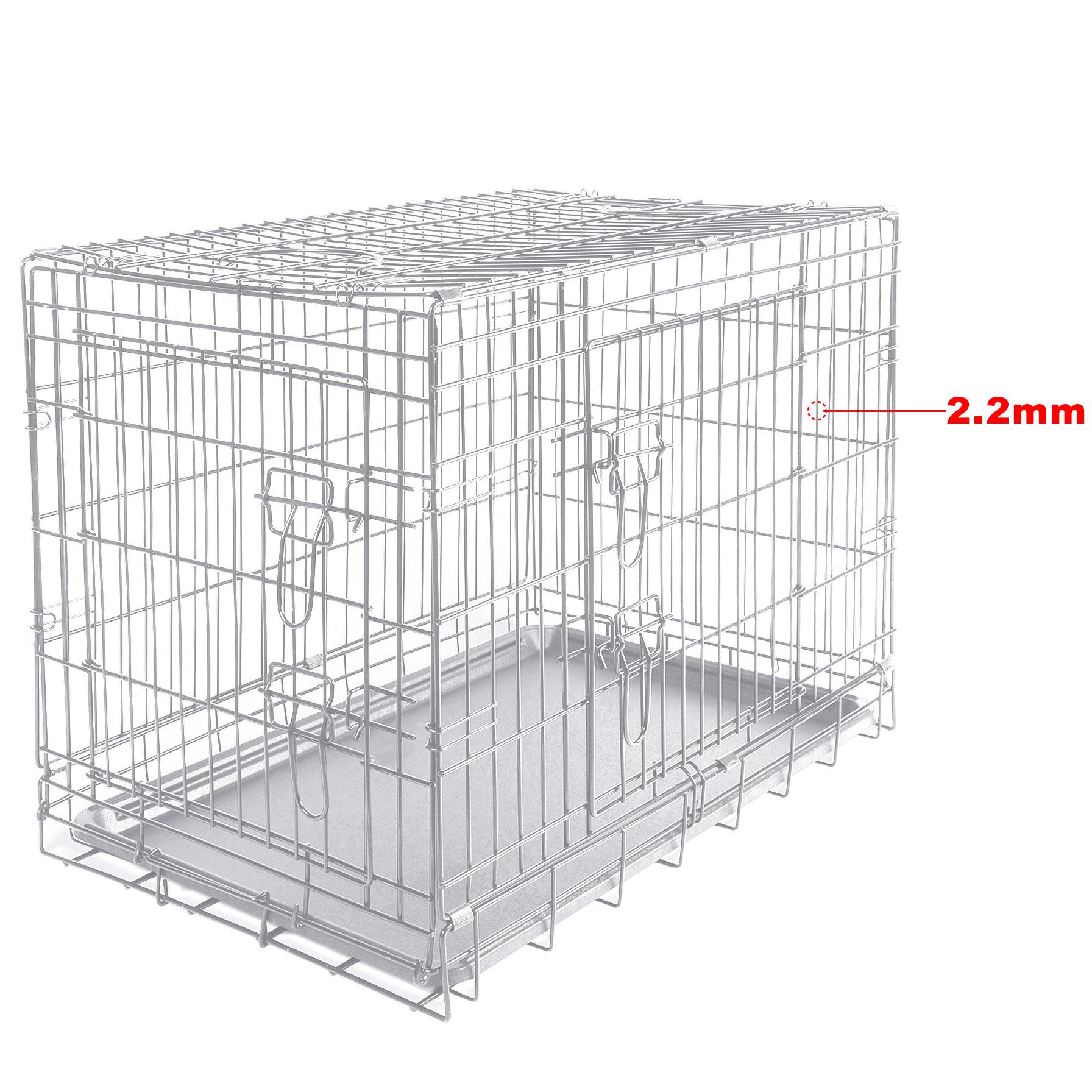 cage de chien pliable avec 2 portes cage de transport de voiture pour pets f235 ebay. Black Bedroom Furniture Sets. Home Design Ideas