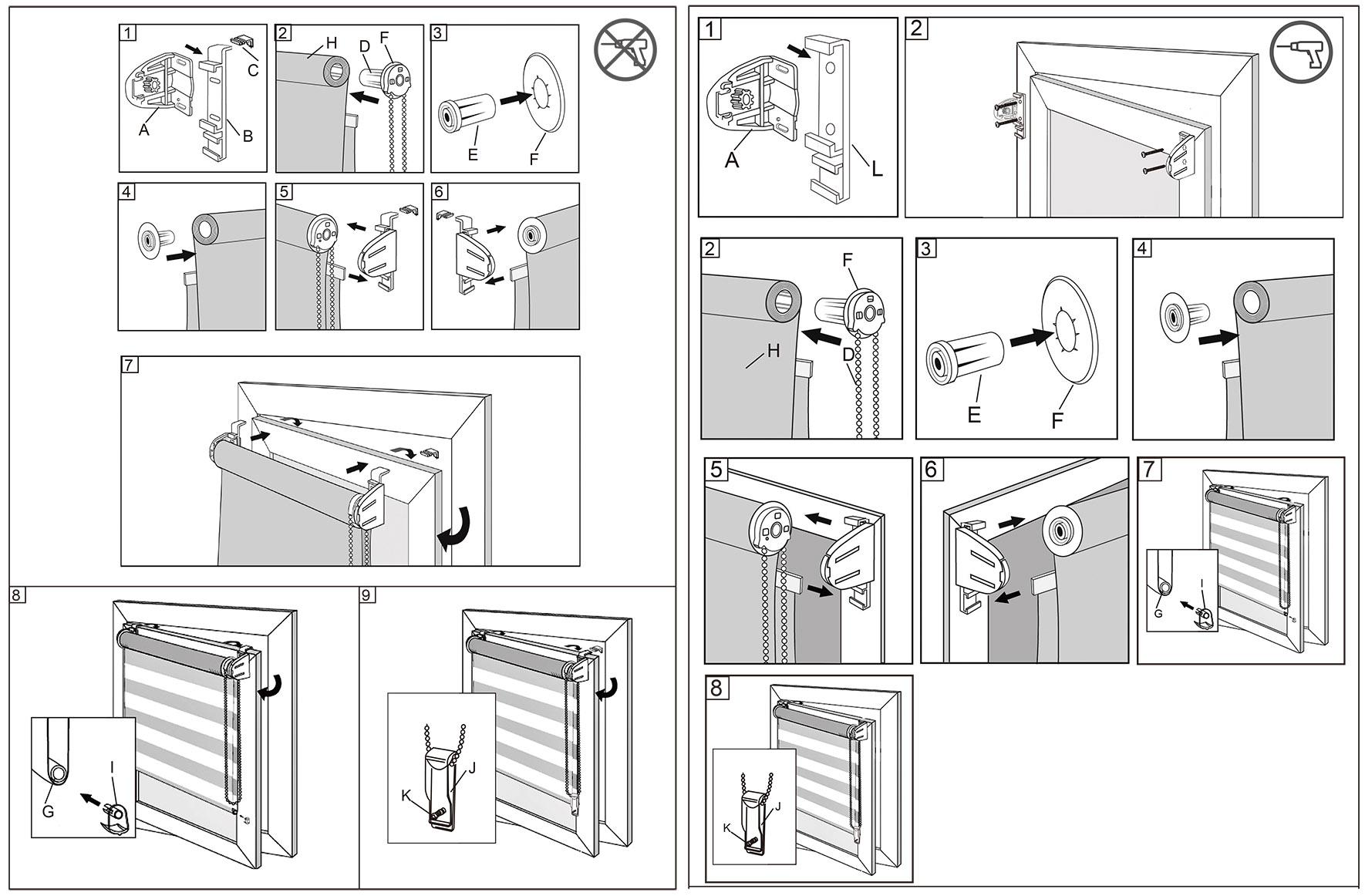 doppelrollo duo rollo klemmfix ohne bohren variorollo easyfix fenster t r 324 a ebay. Black Bedroom Furniture Sets. Home Design Ideas