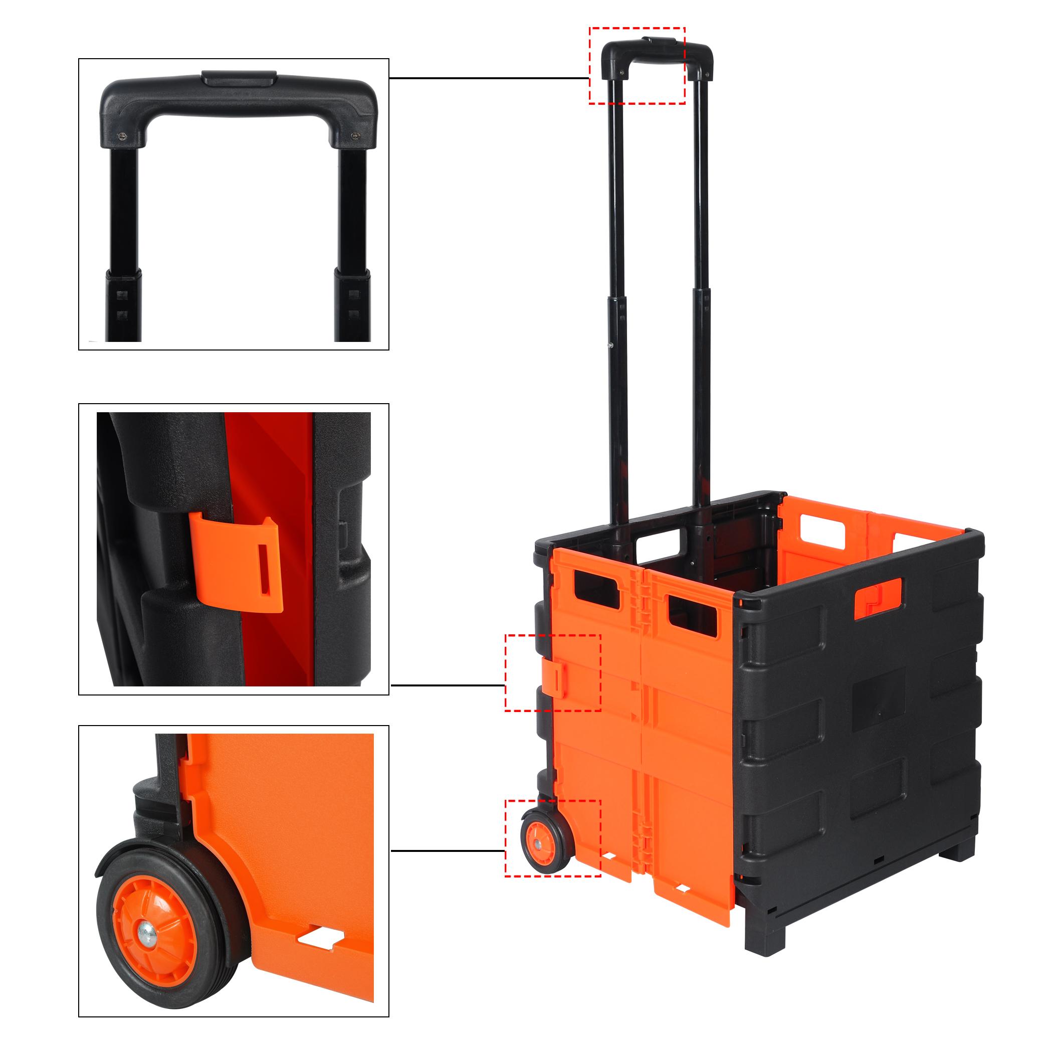 einkaufswagen einkaufstrolley mit deckel bis 35kg einkaufskorb roller ew4802or ebay. Black Bedroom Furniture Sets. Home Design Ideas