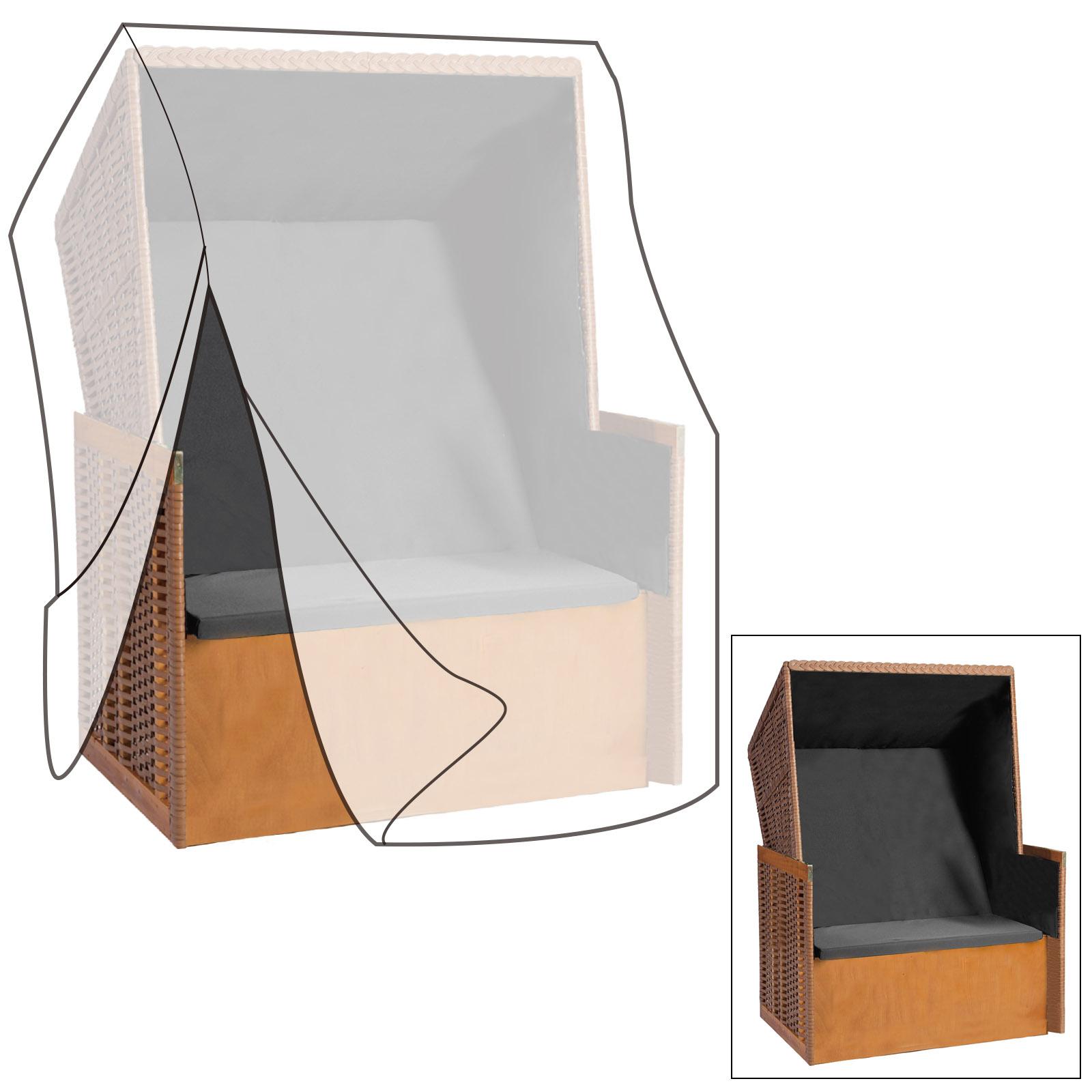 schutzh lle f r strandkorb schutzplane abdeckhaube h lle transparent gz1160tp ebay. Black Bedroom Furniture Sets. Home Design Ideas