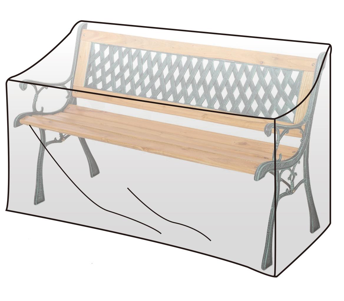 schutzh lle abdeckhaube f r gartenbank schutzhaube plane transparent gz1193tp ebay. Black Bedroom Furniture Sets. Home Design Ideas
