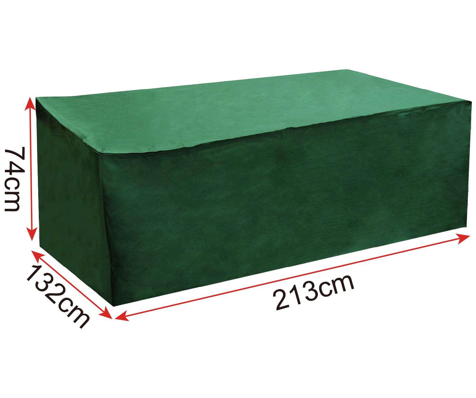 m belschutzh lle abdeckhaube gartentisch rechteckig abdeckplane garten gz1196gn ebay. Black Bedroom Furniture Sets. Home Design Ideas