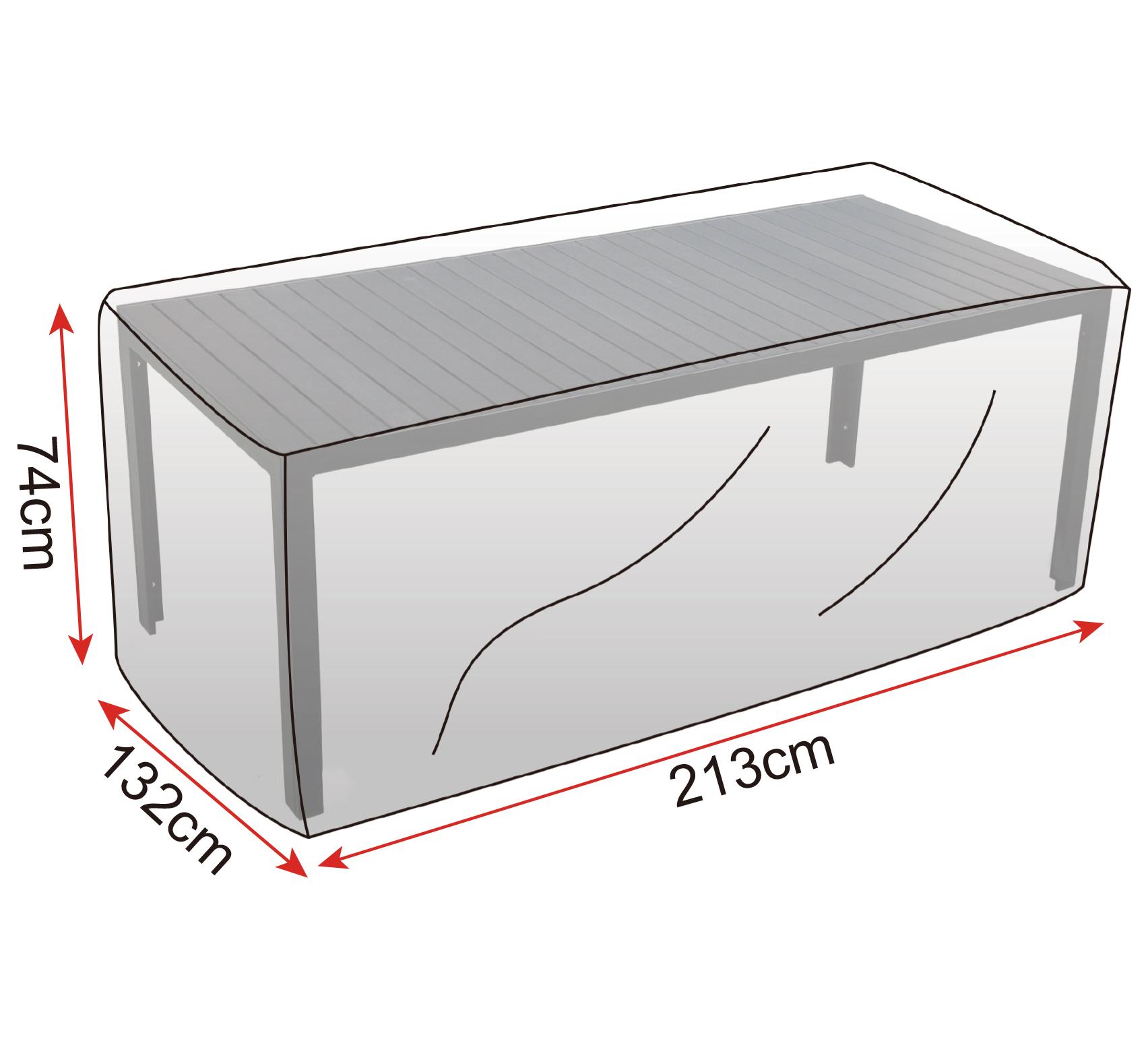 schutzh lle plane abdeckhaube f r garten m bel tisch abdeckung haube gz1196tp ebay. Black Bedroom Furniture Sets. Home Design Ideas