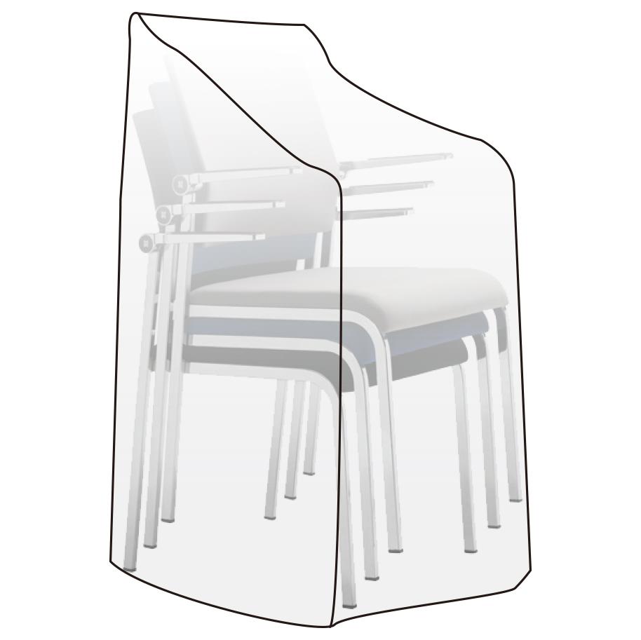 Schutzhülle Abdeckhaube für Gartenstuhl Stuhl Plane Hülle transparent GZ1198tp