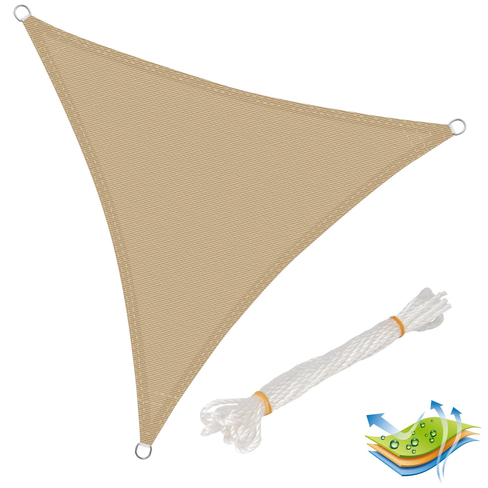 sonnensegel uv schutz rechteck quadrat dreieck atmungsaktiv hdpe sand 608 sd ebay. Black Bedroom Furniture Sets. Home Design Ideas