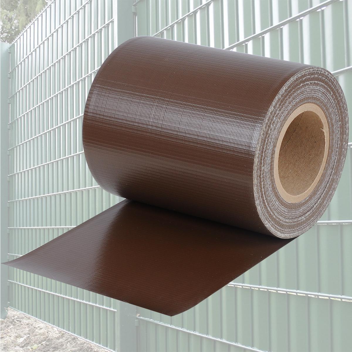 pvc sichtschutzstreifen doppelstabmatte zaunfolie windschutz 35m braun gzz1187br ebay. Black Bedroom Furniture Sets. Home Design Ideas