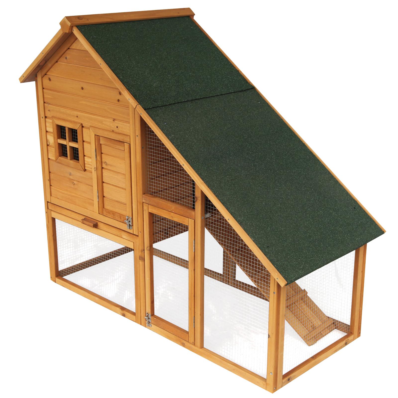 hasenstall kaninchenstall kleintierstall holz 2 st ckig. Black Bedroom Furniture Sets. Home Design Ideas