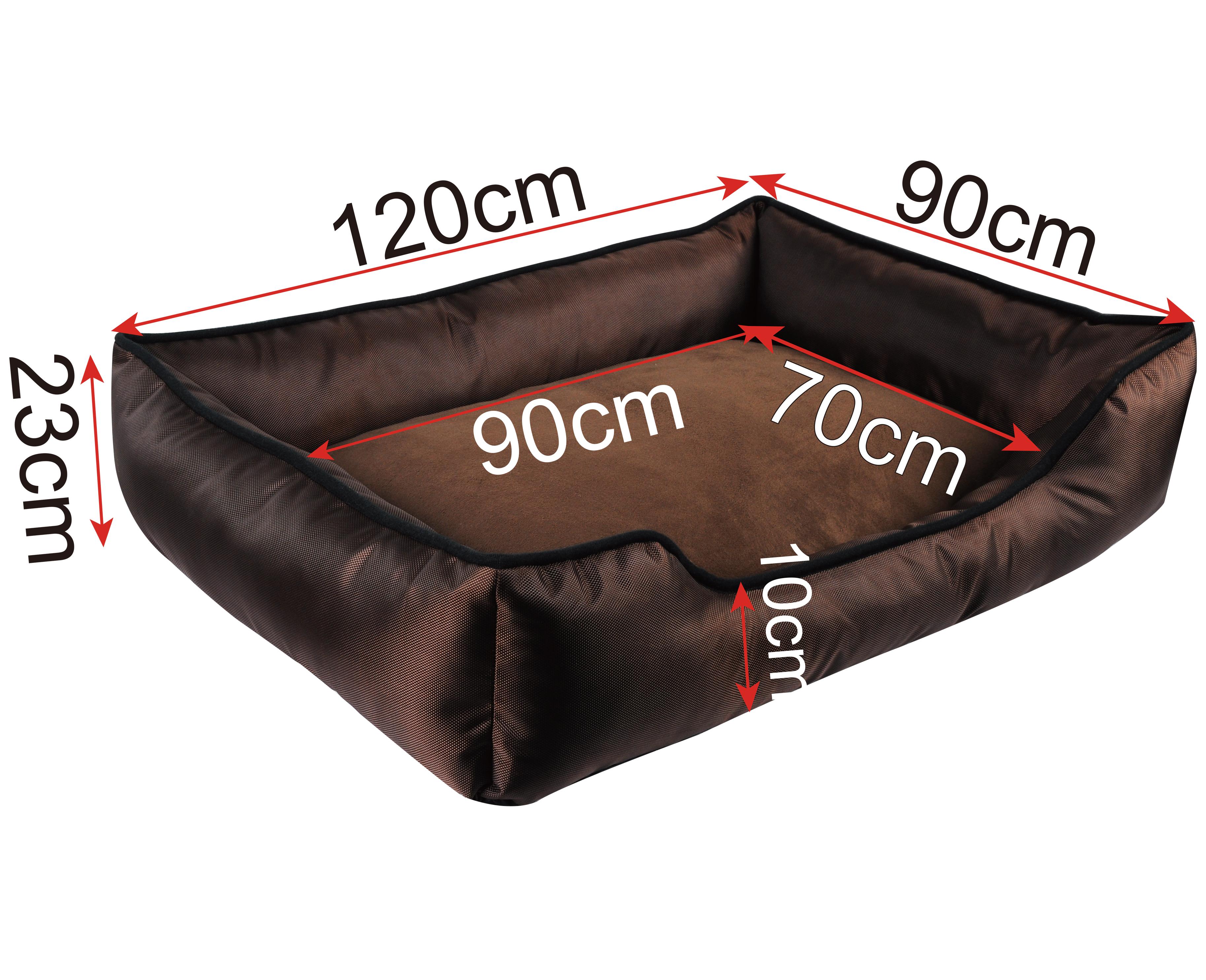 lit pour chien canap coussin panier animal brun xl xxl xxxl 367 ebay. Black Bedroom Furniture Sets. Home Design Ideas