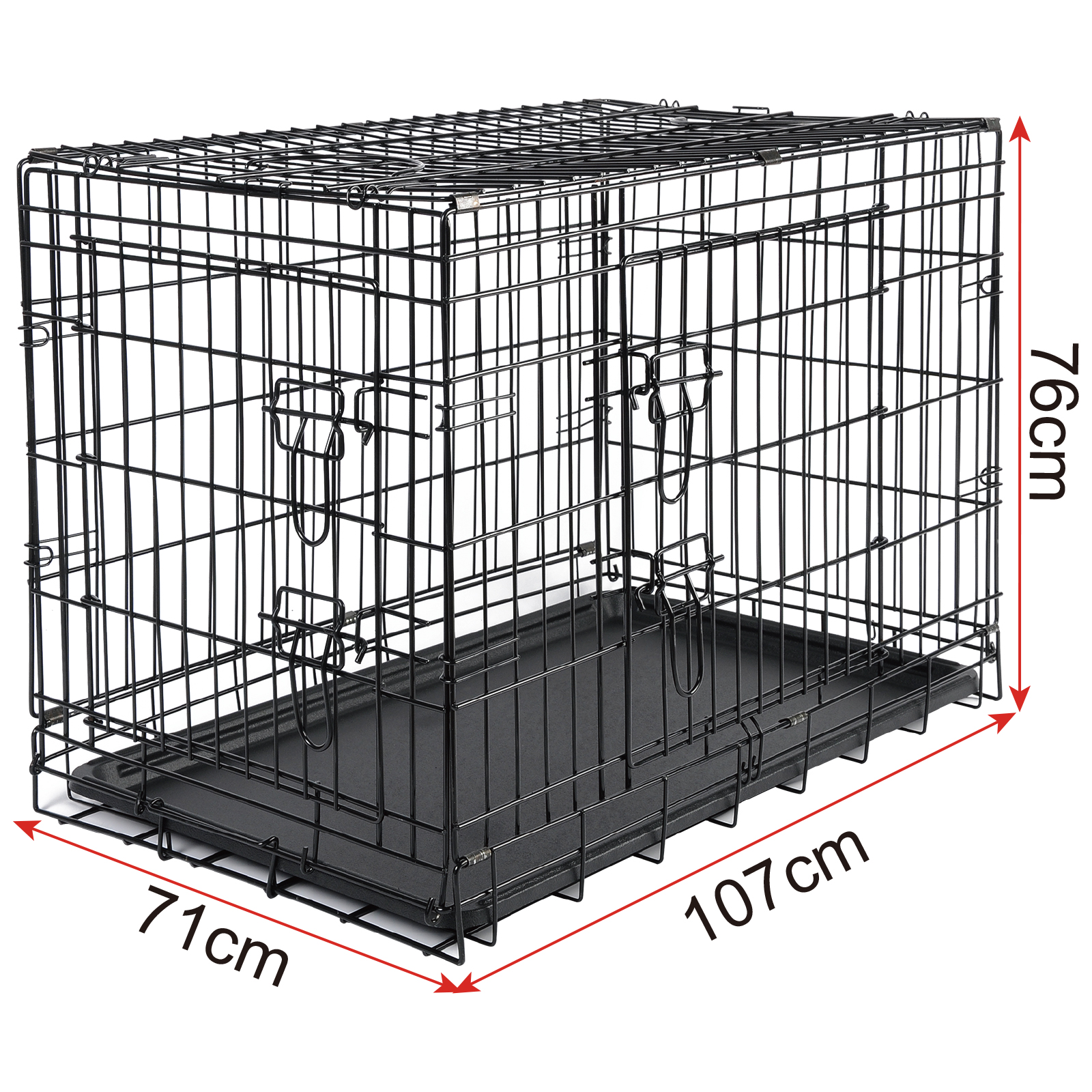 faltbare hundetransportbox hundebox metall reisebox transportbox xl ht2030m3 ebay. Black Bedroom Furniture Sets. Home Design Ideas