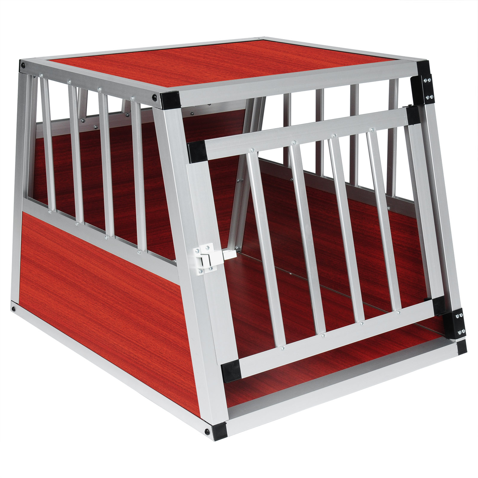 chien cage voiture cage de chien chenil en aluminium de tansport f074 ebay. Black Bedroom Furniture Sets. Home Design Ideas