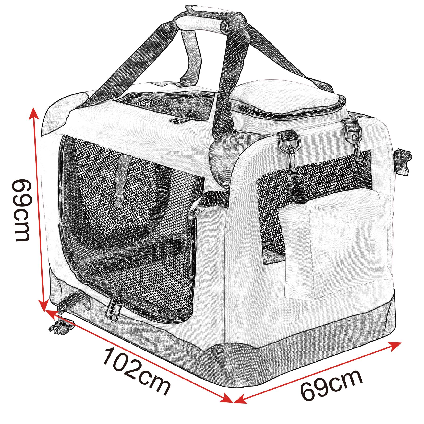 faltbare hunde transportbox hundebox autotransportbox. Black Bedroom Furniture Sets. Home Design Ideas