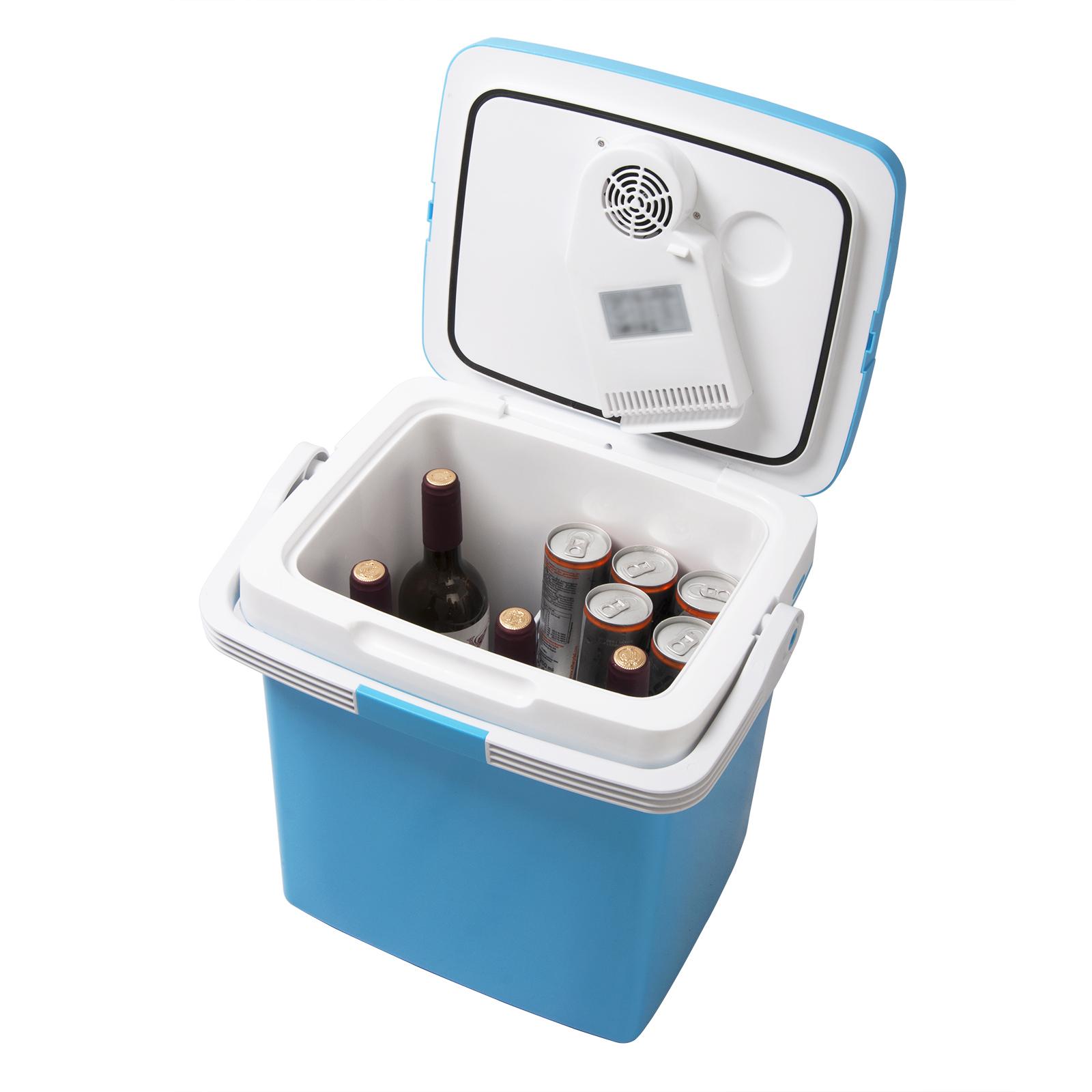26l glaci re lectrique mini r frig rateur pour voiture et camping bleu kue001bl ebay. Black Bedroom Furniture Sets. Home Design Ideas