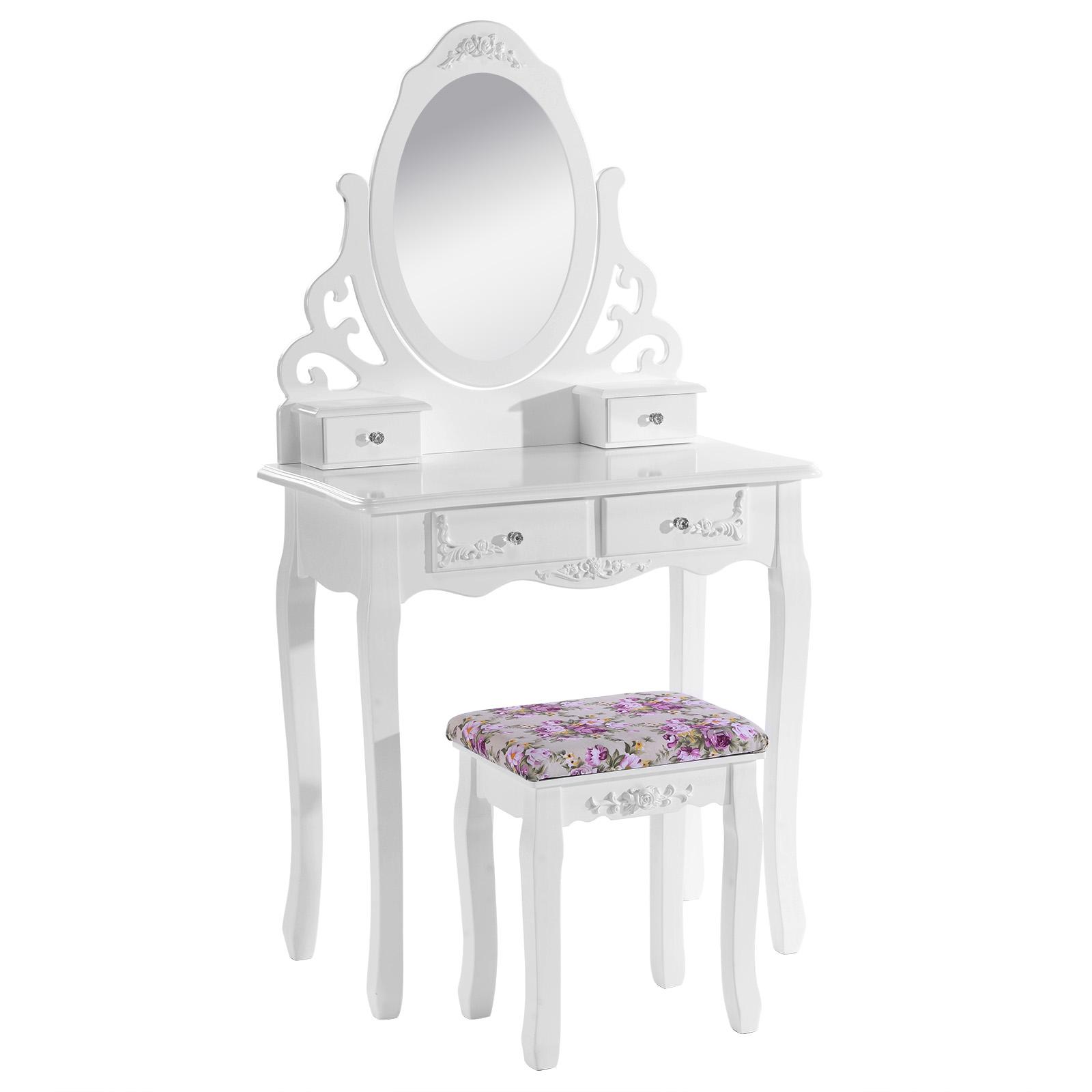 schminktisch frisiertisch kosmetiktisch mit spiegel inkl. Black Bedroom Furniture Sets. Home Design Ideas