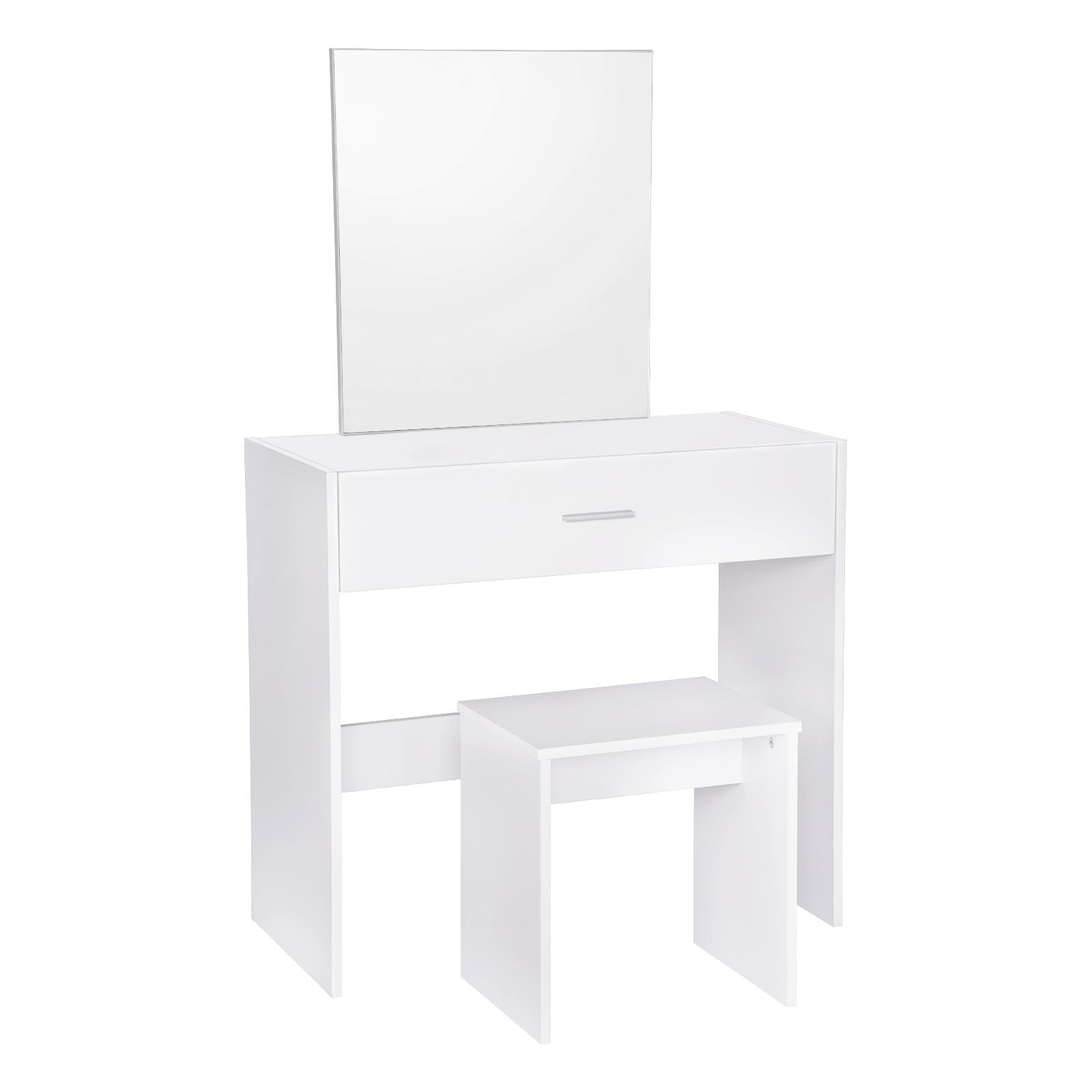 schminktisch mit spiegel und hocker kosmetiktisch schreibtisch wei mb6043ws ebay. Black Bedroom Furniture Sets. Home Design Ideas